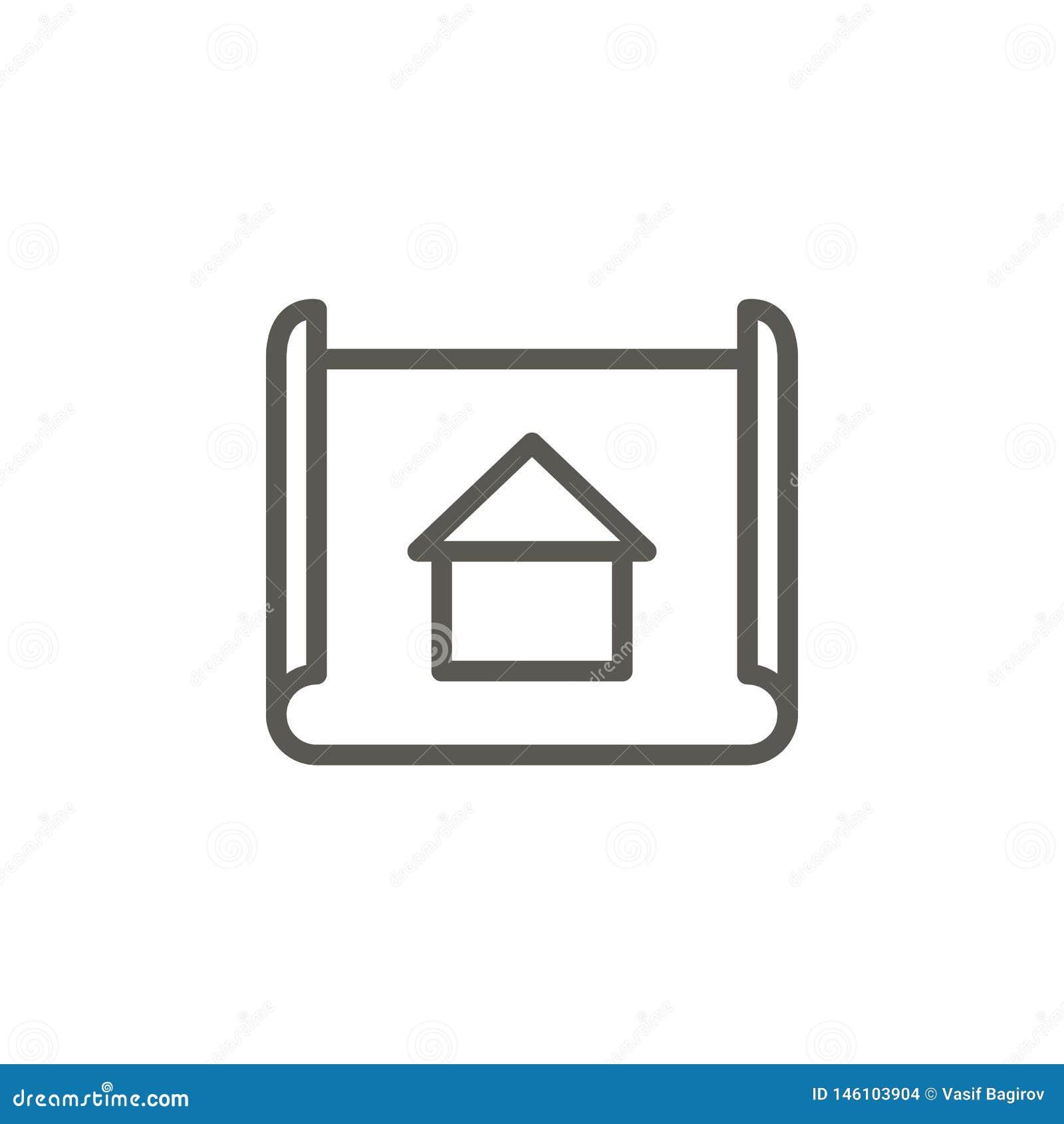Architecte, modèle, icône de vecteur de conception Illustration simple d ?l?ment de concept d UI Architecte, modèle, icône de vec