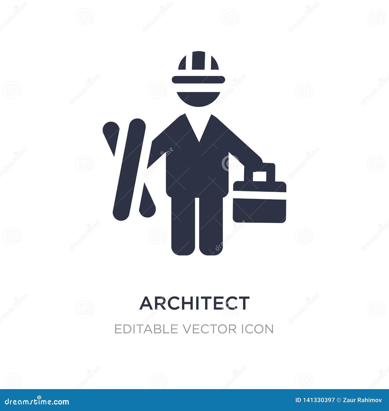 Architectenpictogram op witte achtergrond Eenvoudige elementenillustratie van Mensenconcept