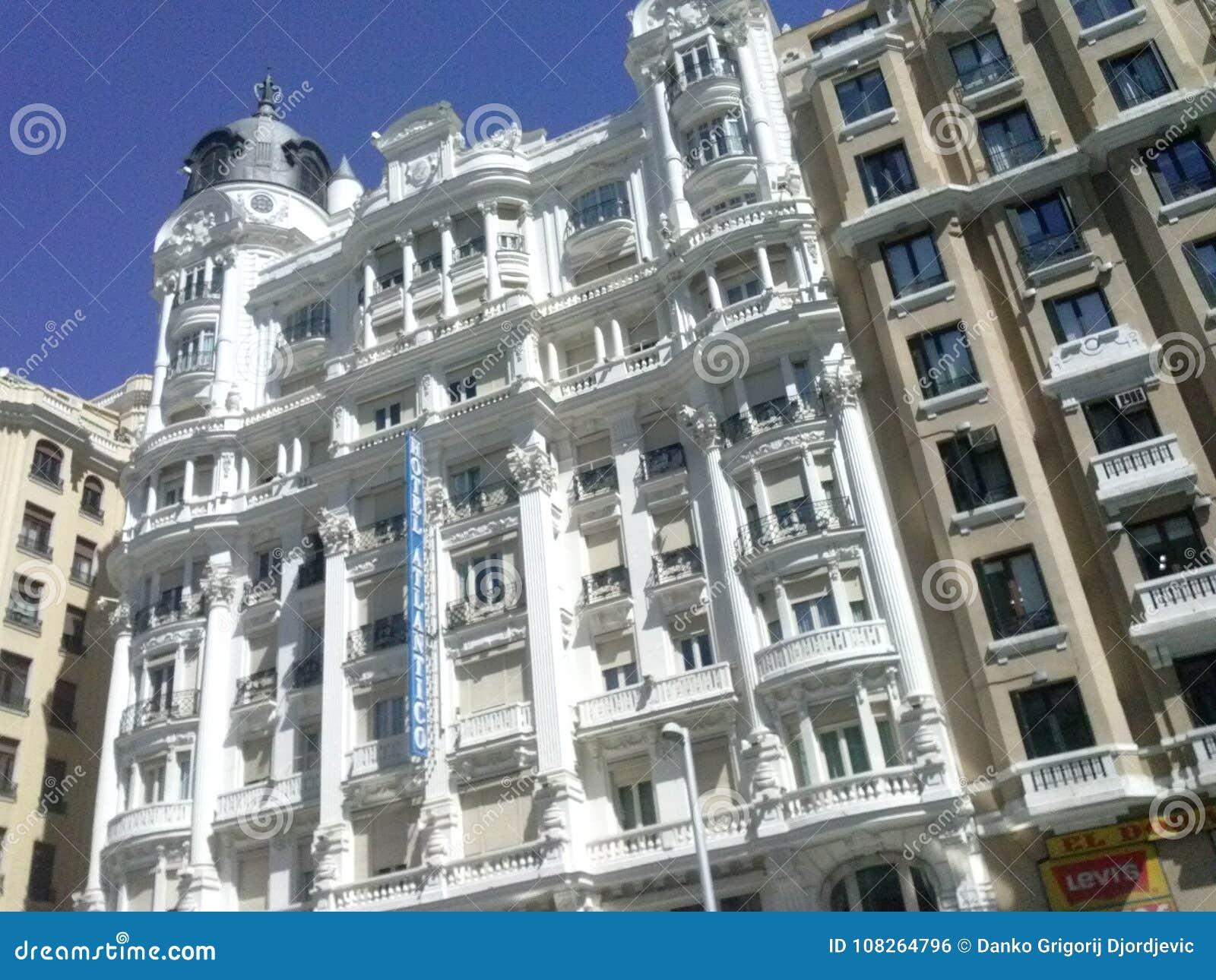 Architectonic building in Center of Madrid, Espana