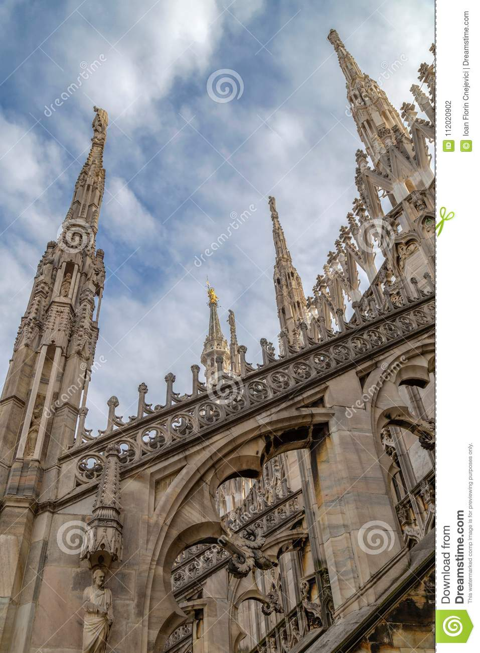 Architectonic details of the Milan Cathedral