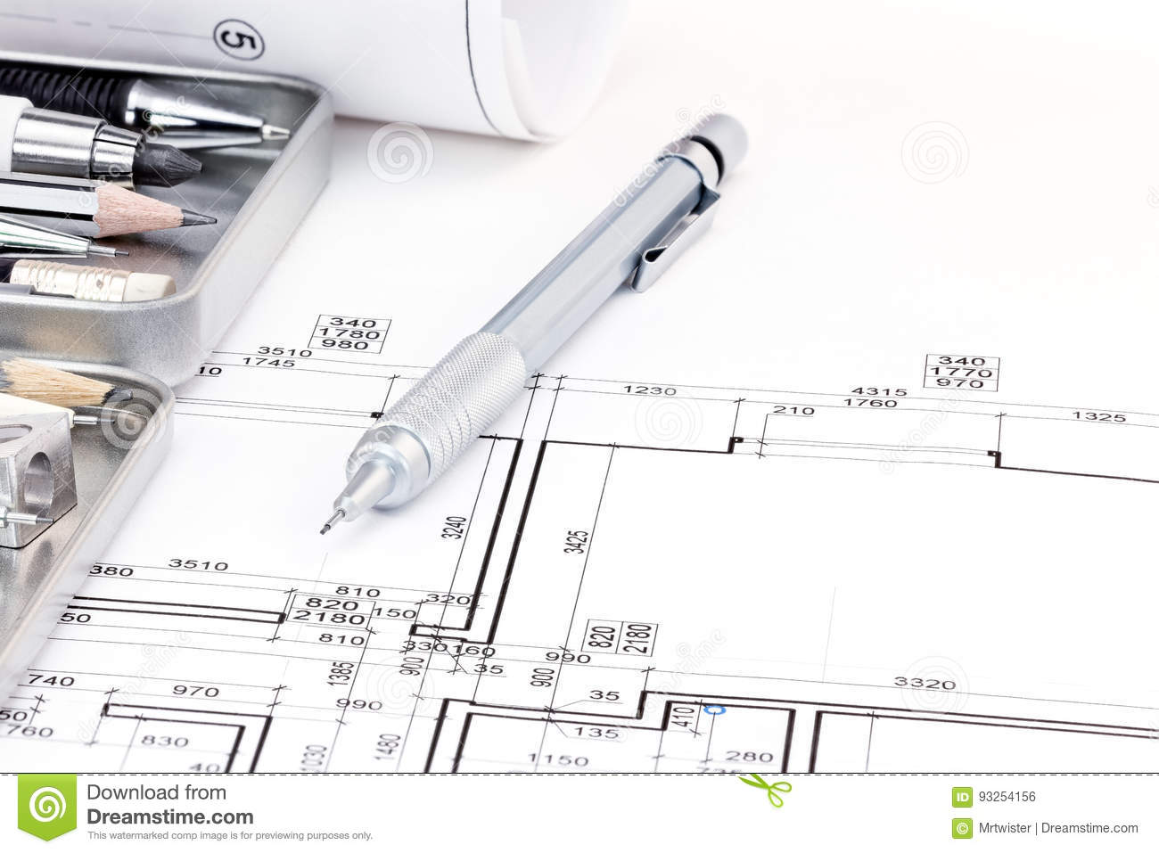 Set Of Architectural Drawings Design Vector Technical