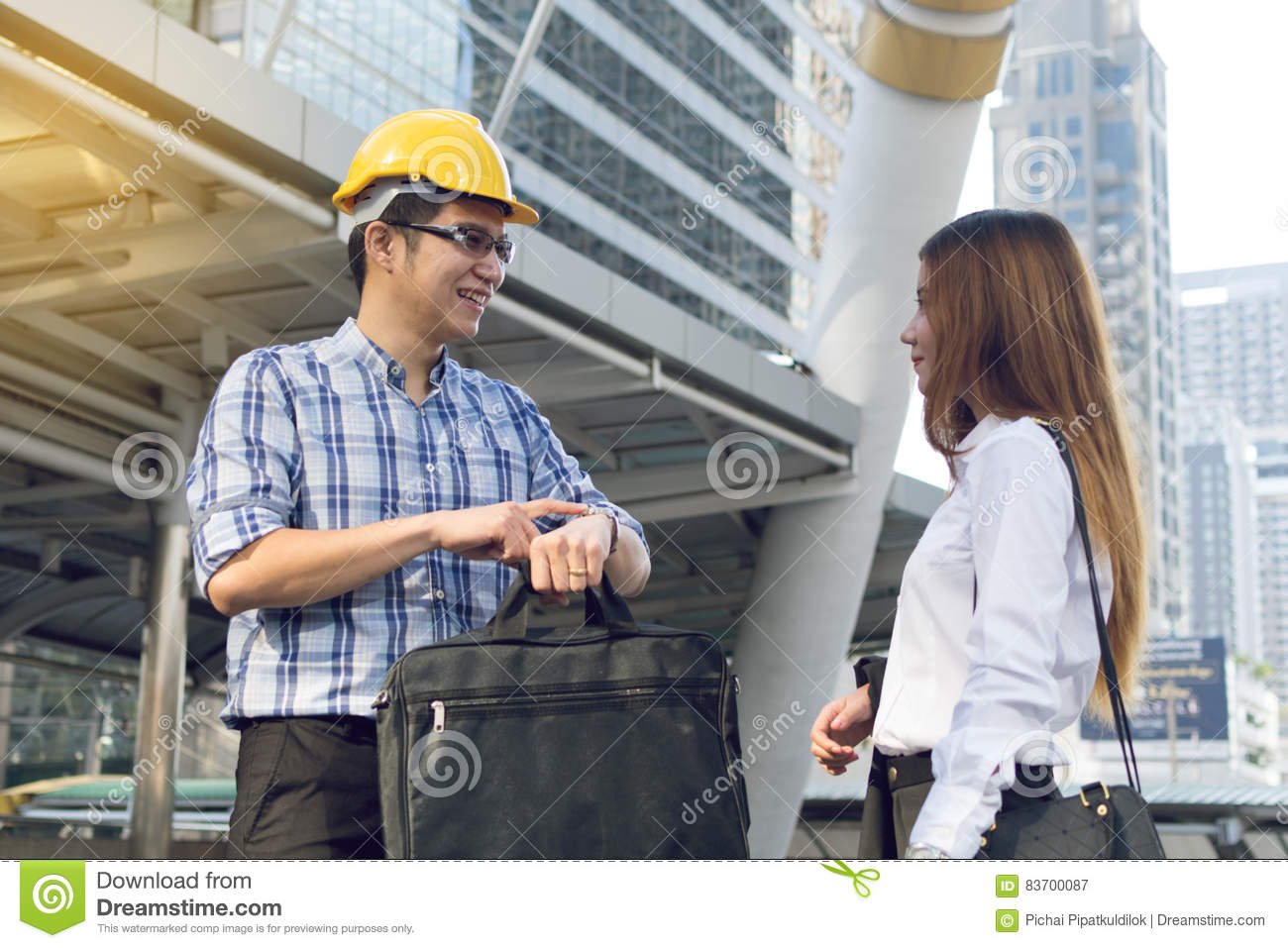 Architects Are Planning New Project. Stock Photo