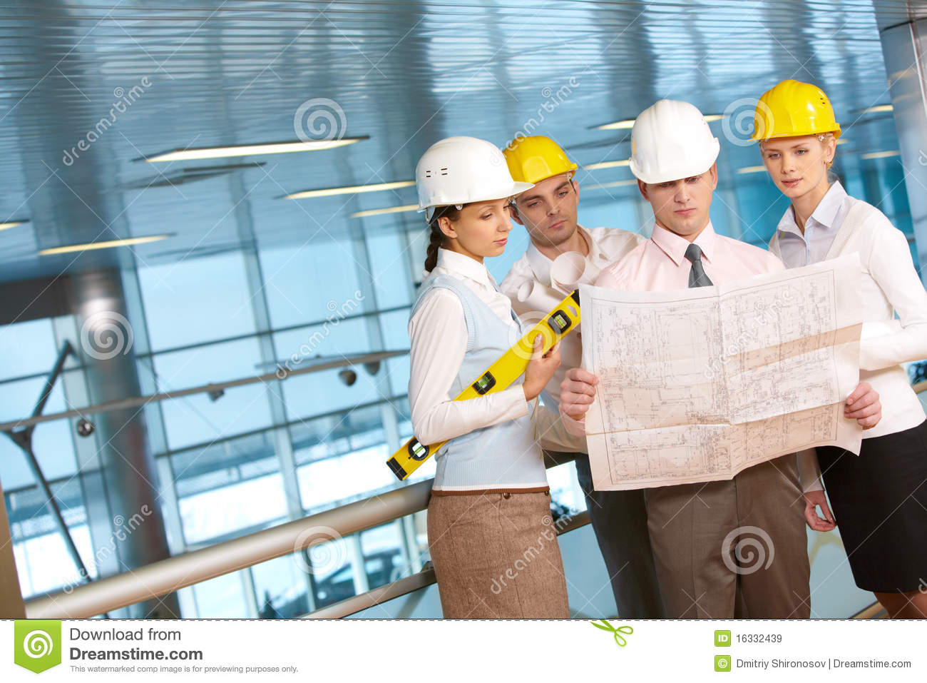 Architects At Work Royalty Free Stock Images - Image: 16332439