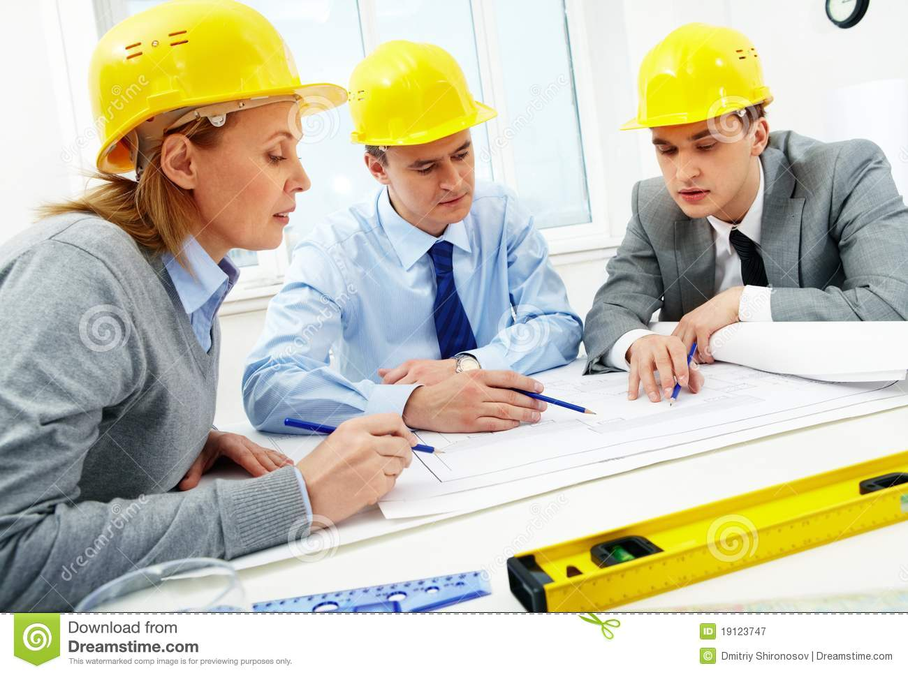 architects at work royalty free stock photography image