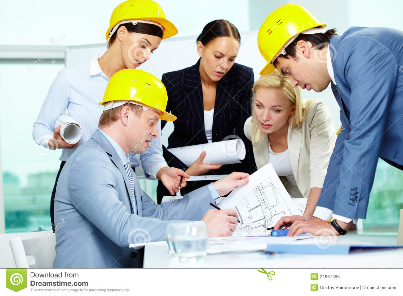 Architects at work stock photo. Image of holding, career ...