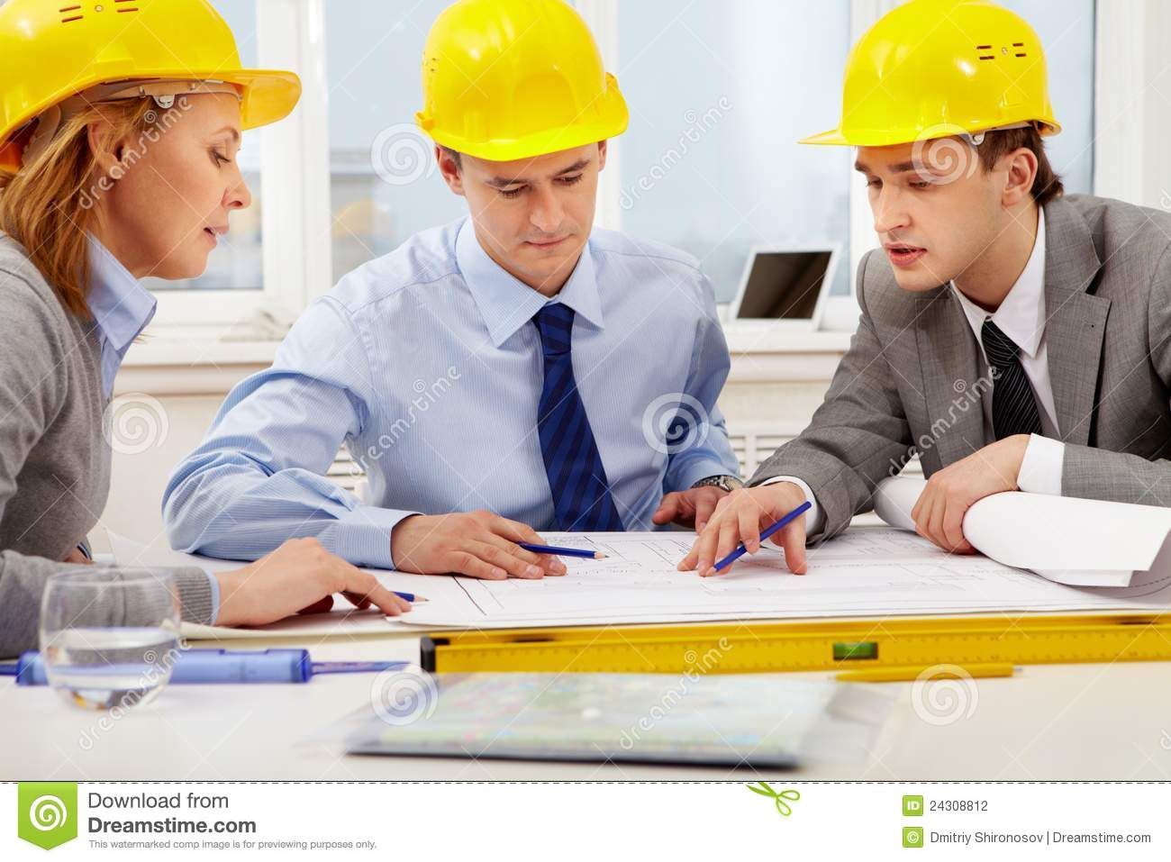 Architects at work stock photography image 24308812 for How to be an architect