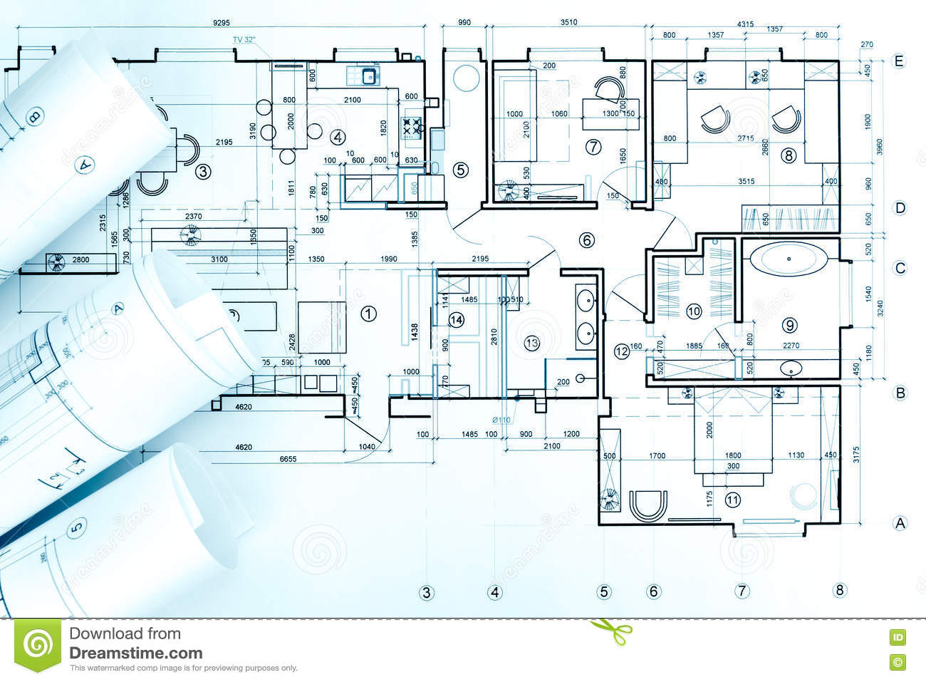 Architectural Drawing Blueprint