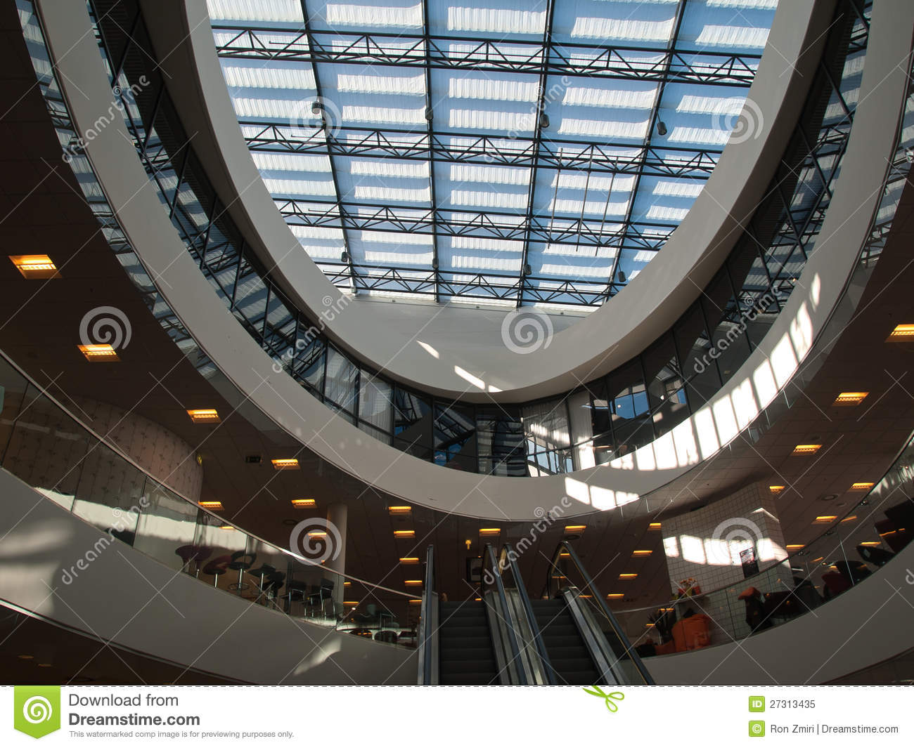 ... Abstract Glass Roof Ceiling Royalty Free Stock Photo - Image: 27313435