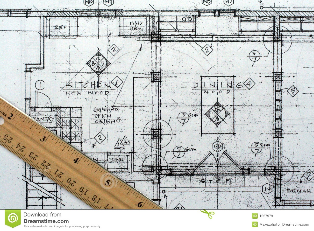 Architectural blueprint royalty free stock images image for Architecture blueprint