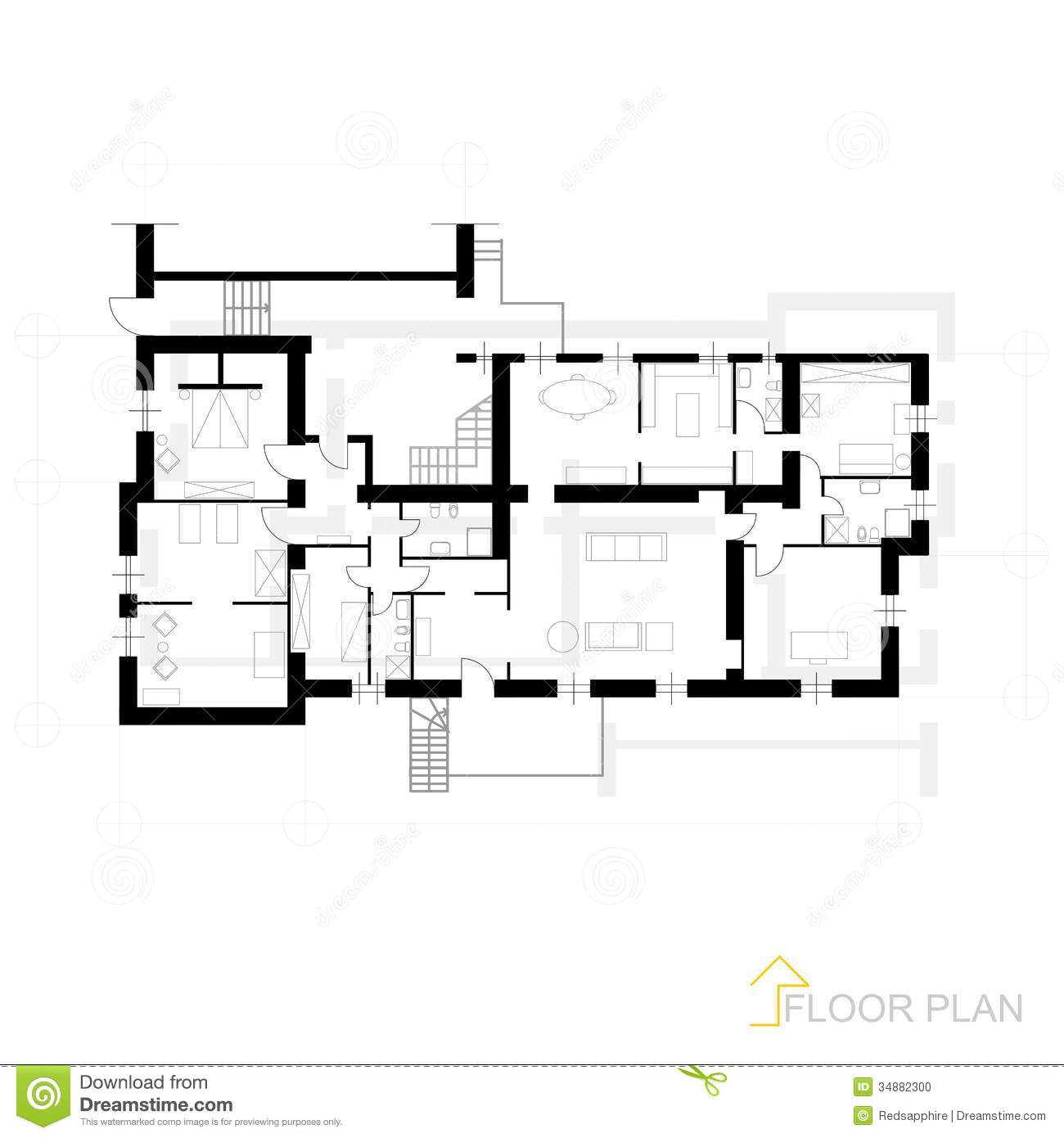 Architectural blueprint stock photo image of blueprint for Apartment stock plans