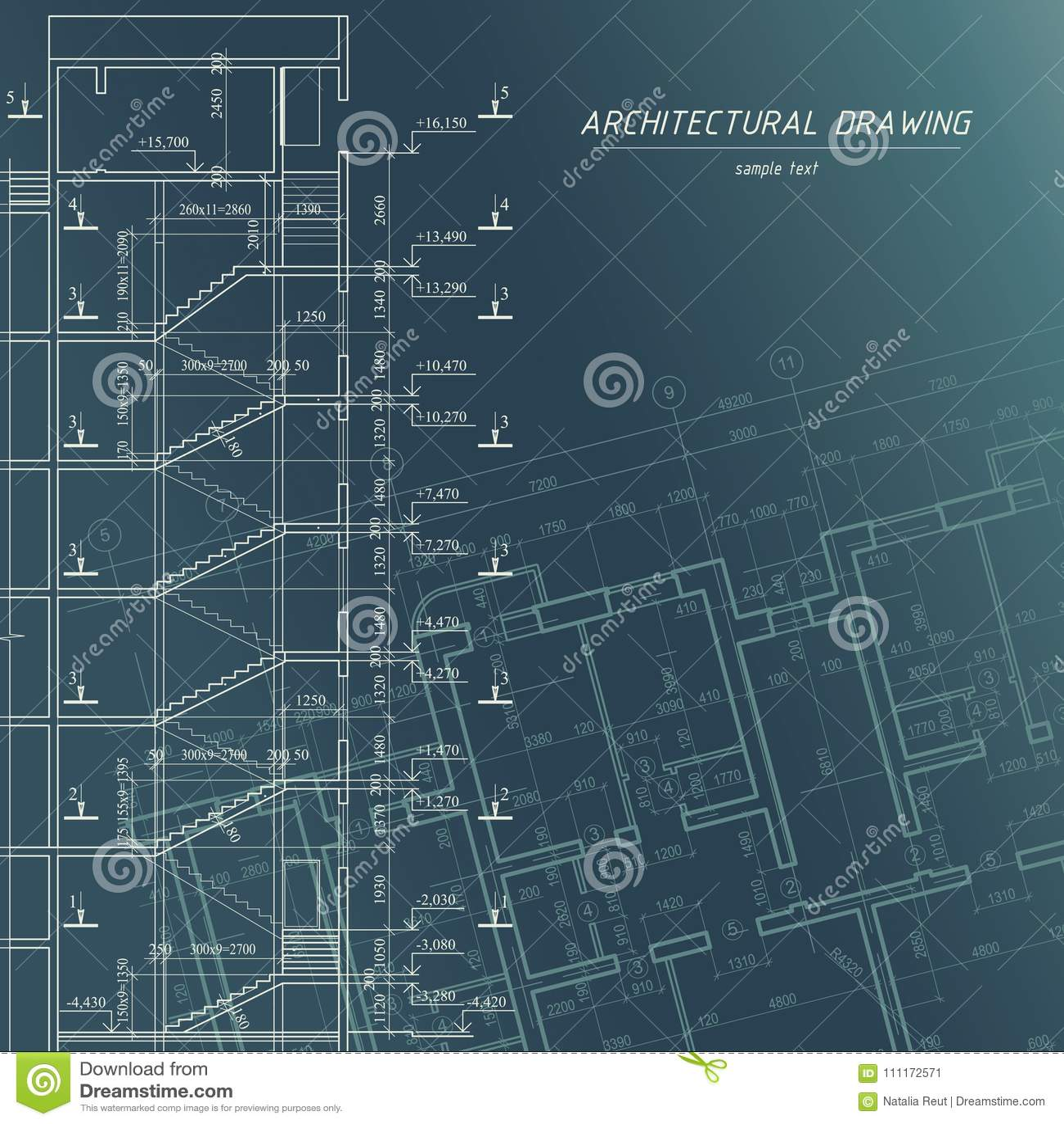 Architectural blueprint building background stock vector download architectural blueprint building background stock vector illustration of architect city malvernweather Gallery