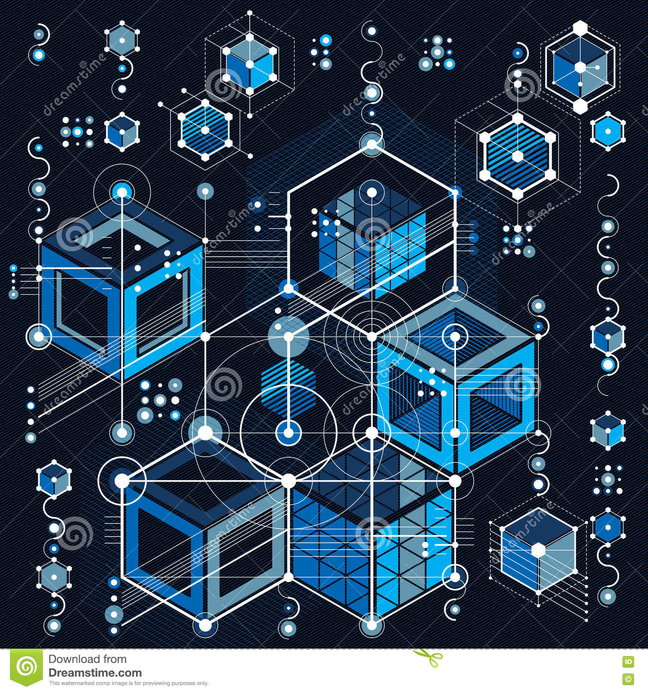 Architectural blueprint digital background with differen stock download architectural blueprint digital background with differen stock illustration illustration of hexagon illustration malvernweather Images