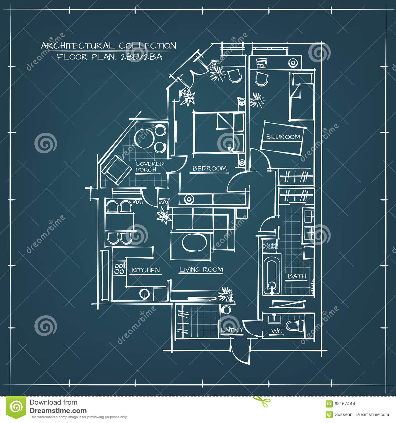 Architectural blueprint floor plan stock vector illustration of architectural blueprint floor plan royalty free vector malvernweather Images