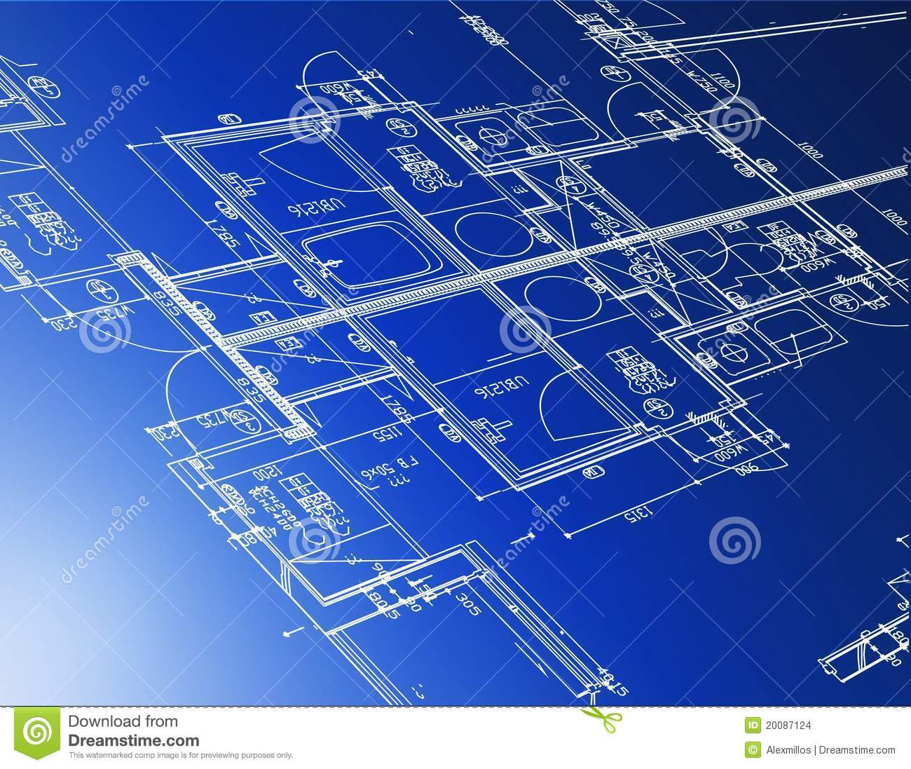 Architectural blueprints stock vector illustration of engineering architectural blueprints malvernweather Images