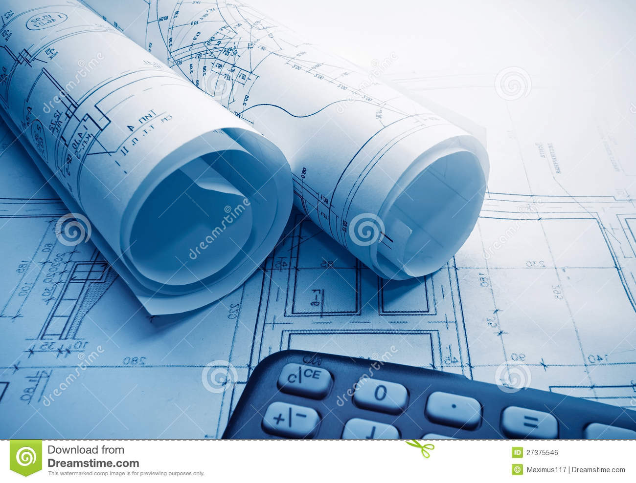 Architectural Blueprints Rolls 27375546 Architectural Blueprints Rolls Royalty Free Stock Image Image On Free Architectural Blueprints