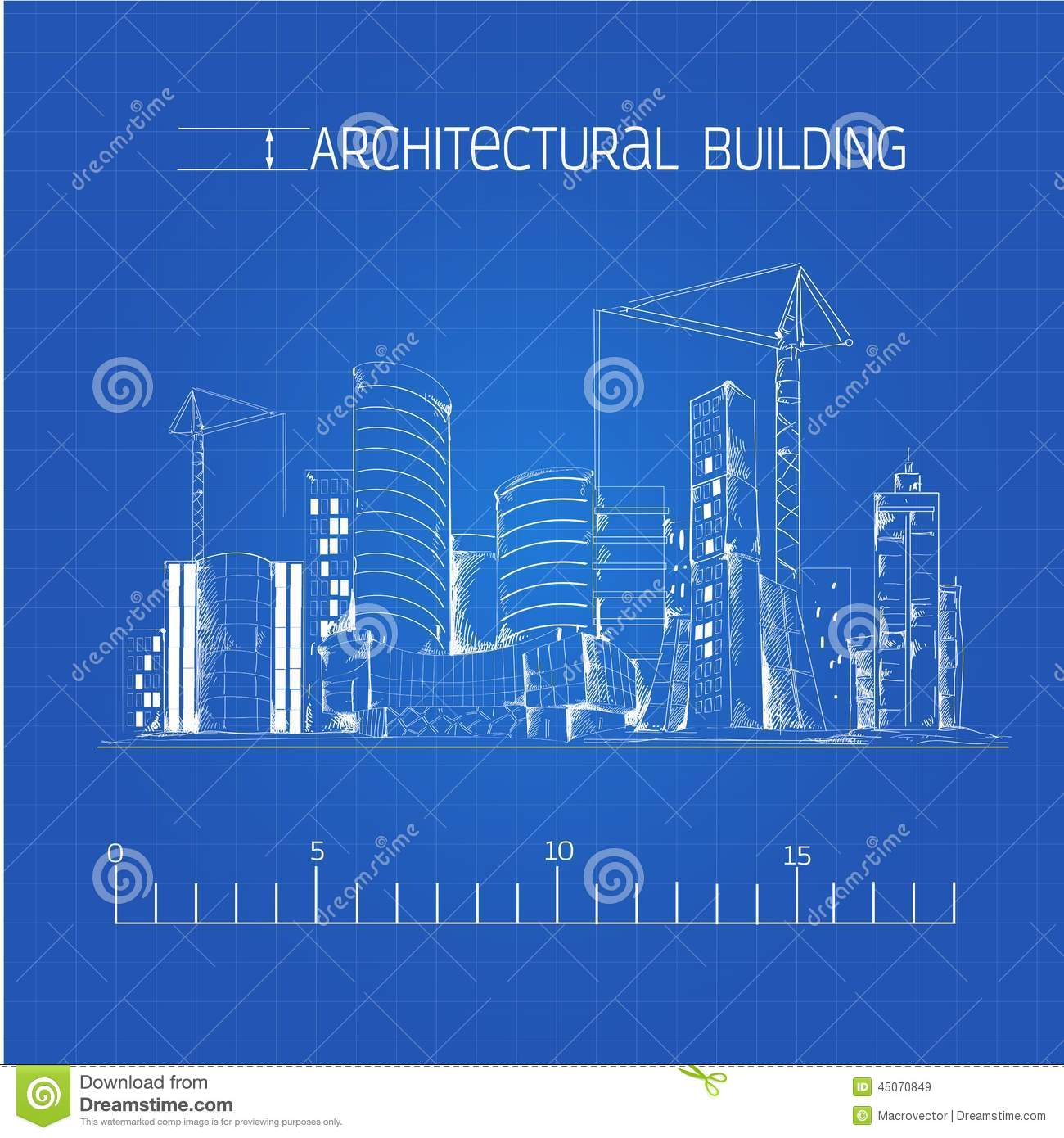 Architectural building blueprint stock vector illustration of download architectural building blueprint stock vector illustration of aesthetic blueprint 45070849 malvernweather Images