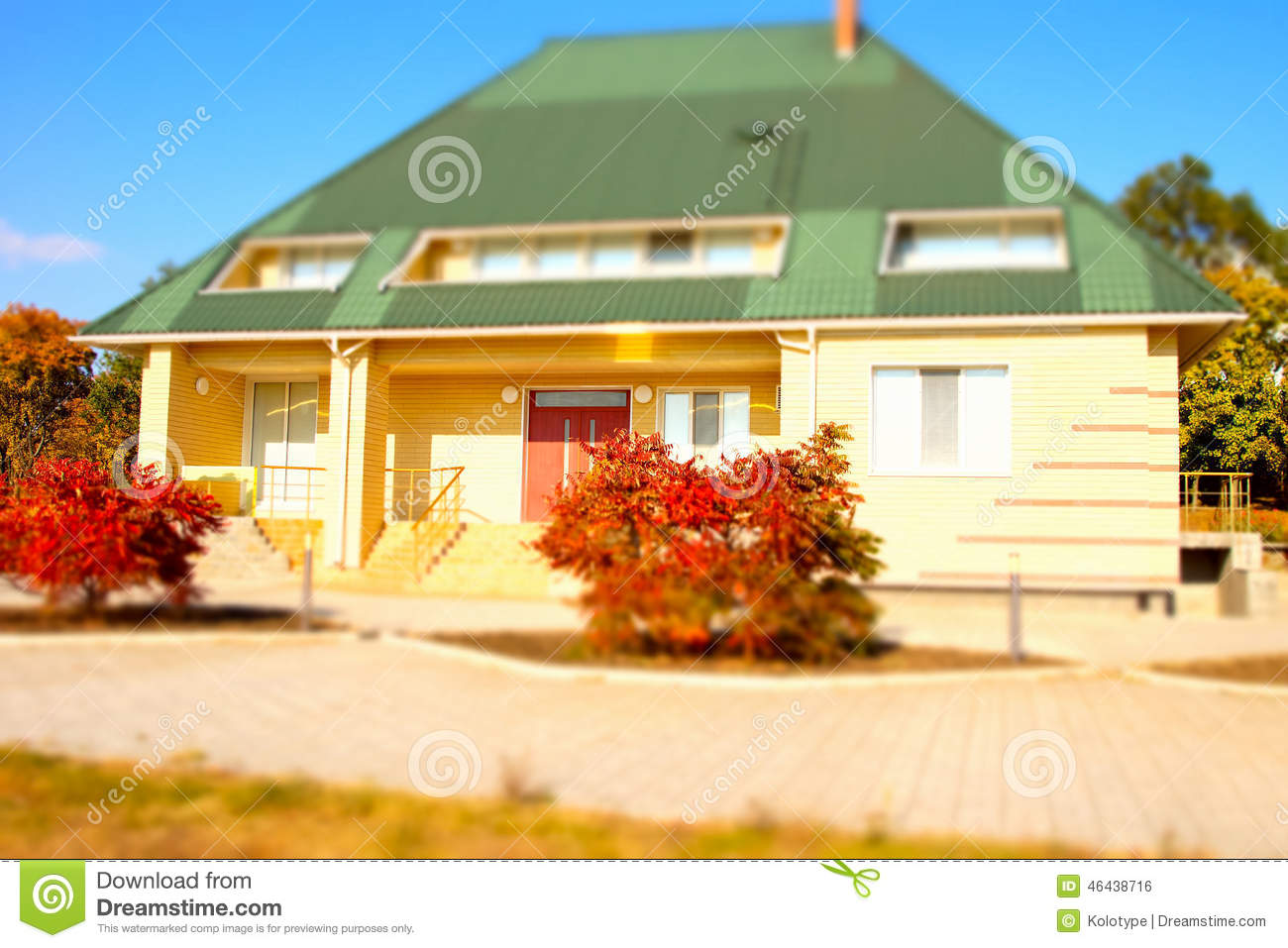 architectural bungalow house exterior design stock photo