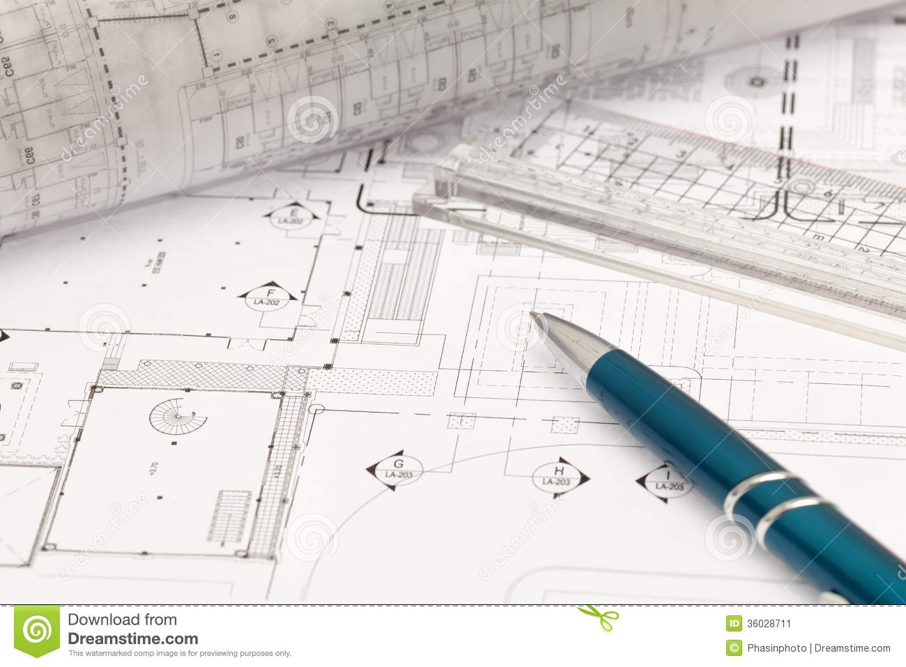 Architectural Drawing Stock Photo Image