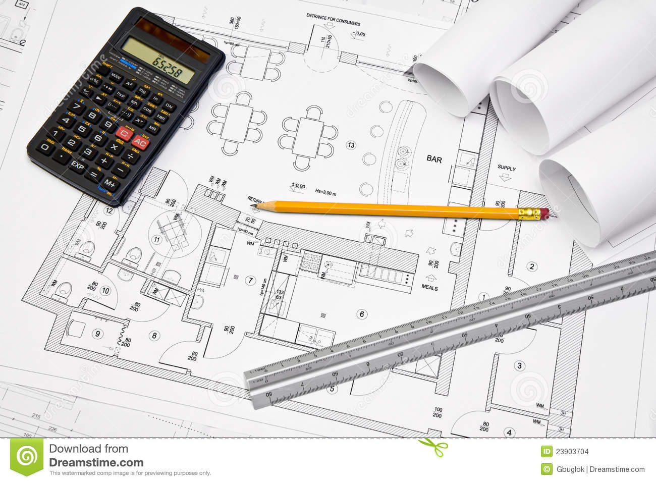 Architectural concept blueprint stock images image 23903704 for Blueprint estimator