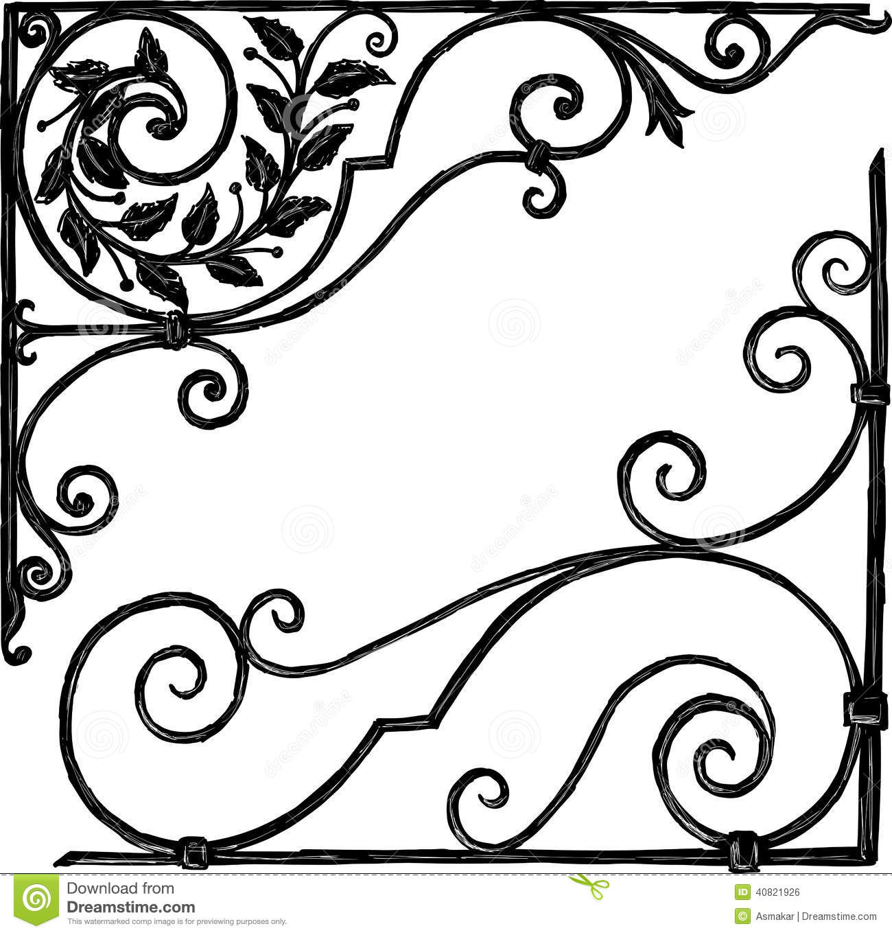 Architectural decorations stock vector image of ornament for Drawing decoration ideas