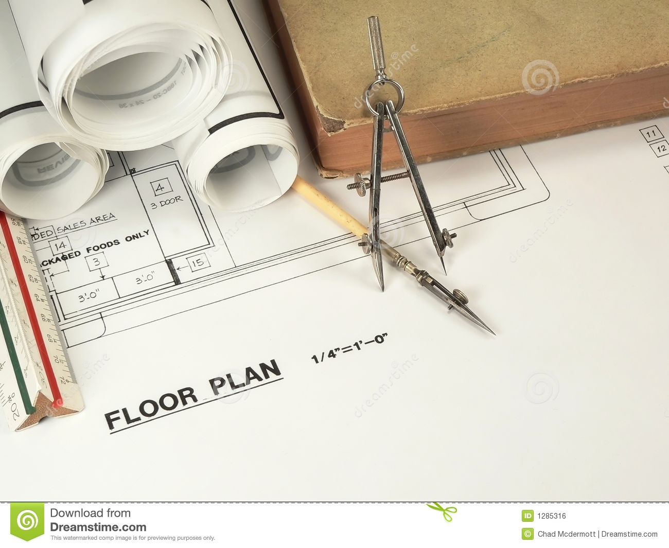 Architectural Design Tools Royalty Free Stock Image