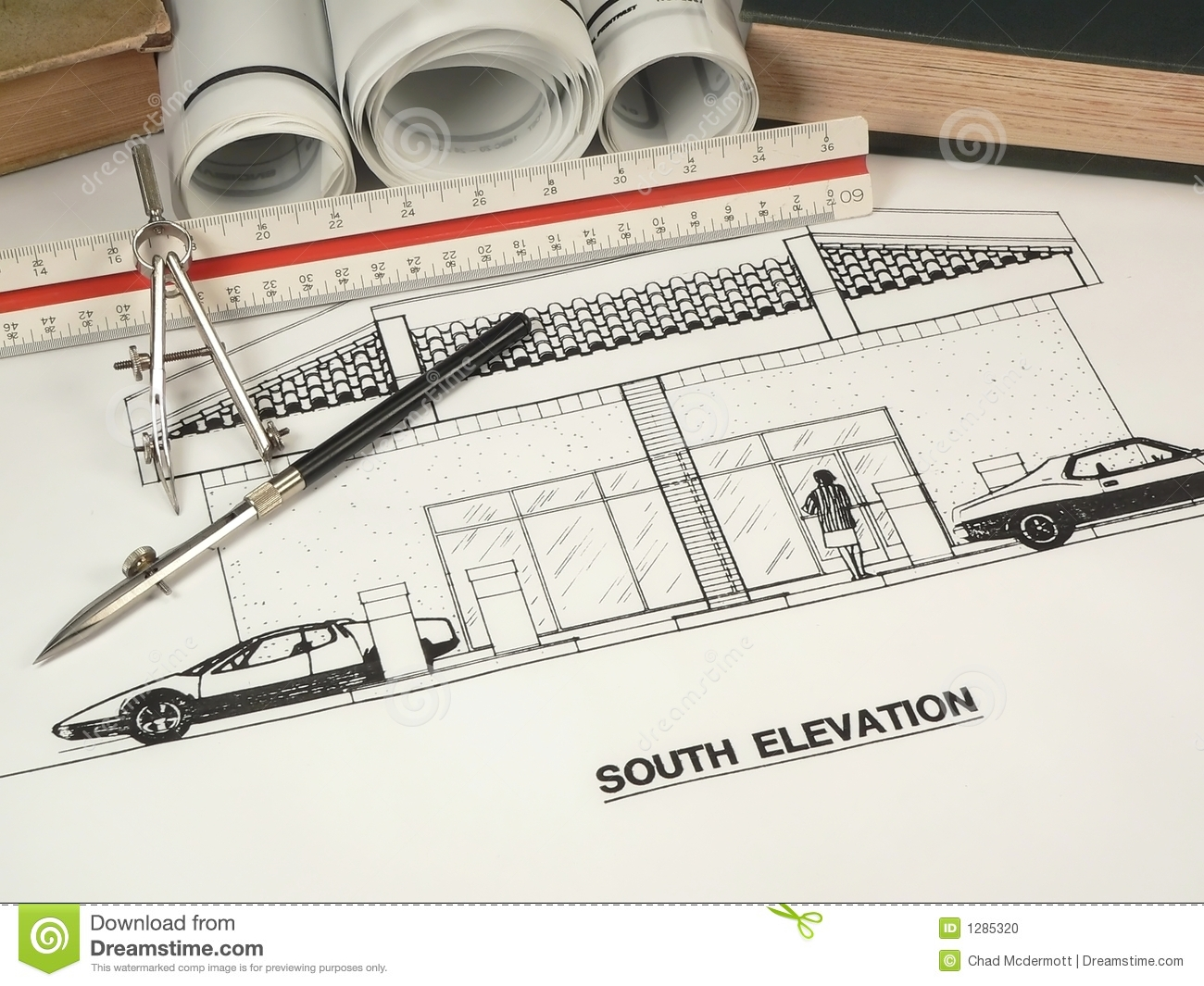 Architectural Design Tools Stock Photo Image 1285320