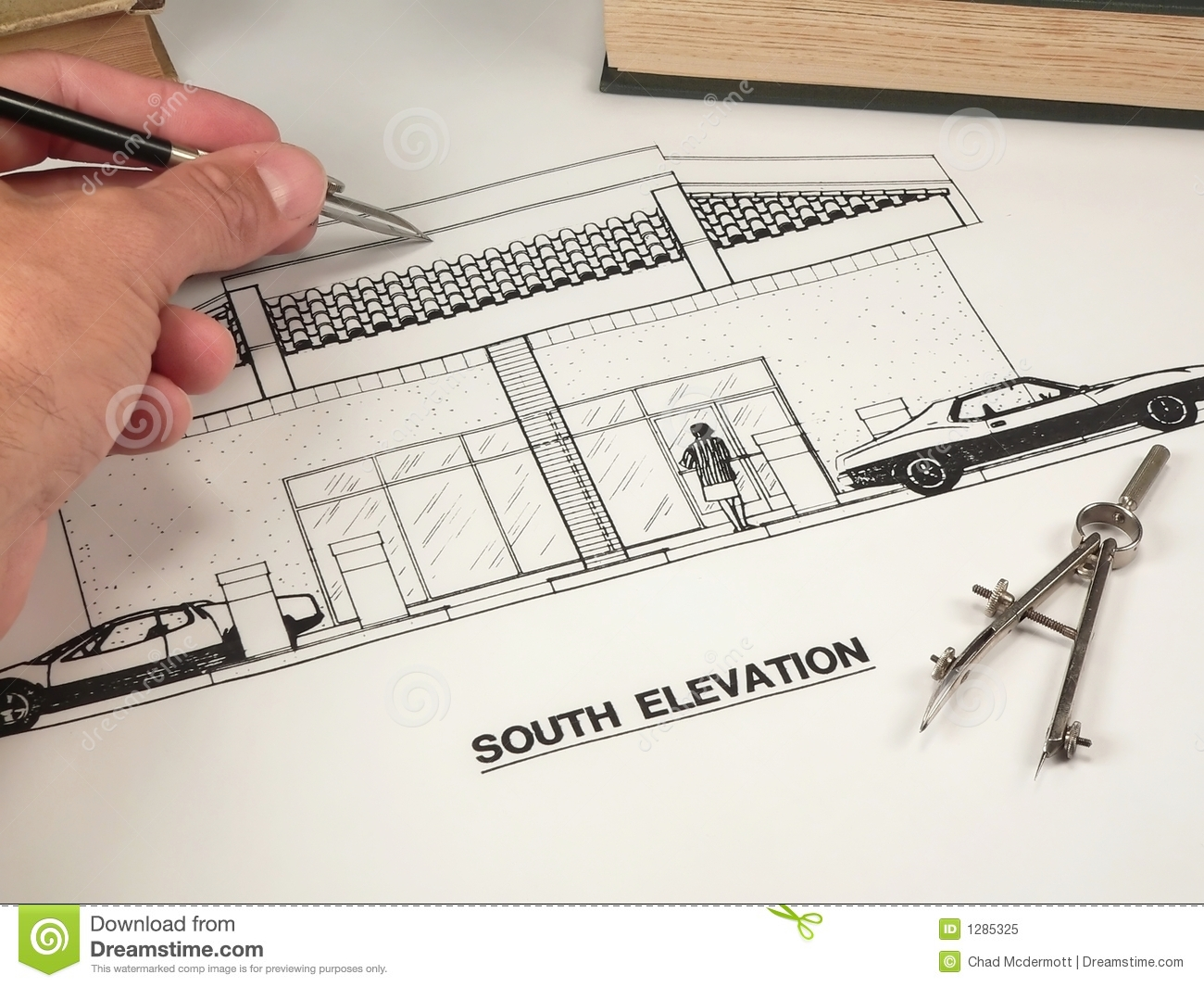 Architectural design tools stock image image of for Online architecture design tool