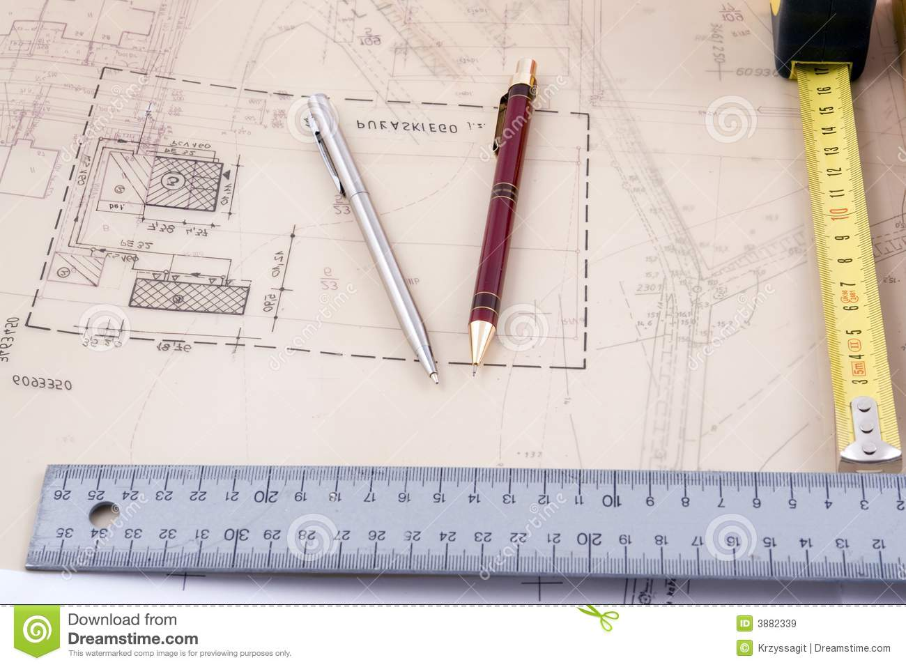 architectural design tools royalty free stock images