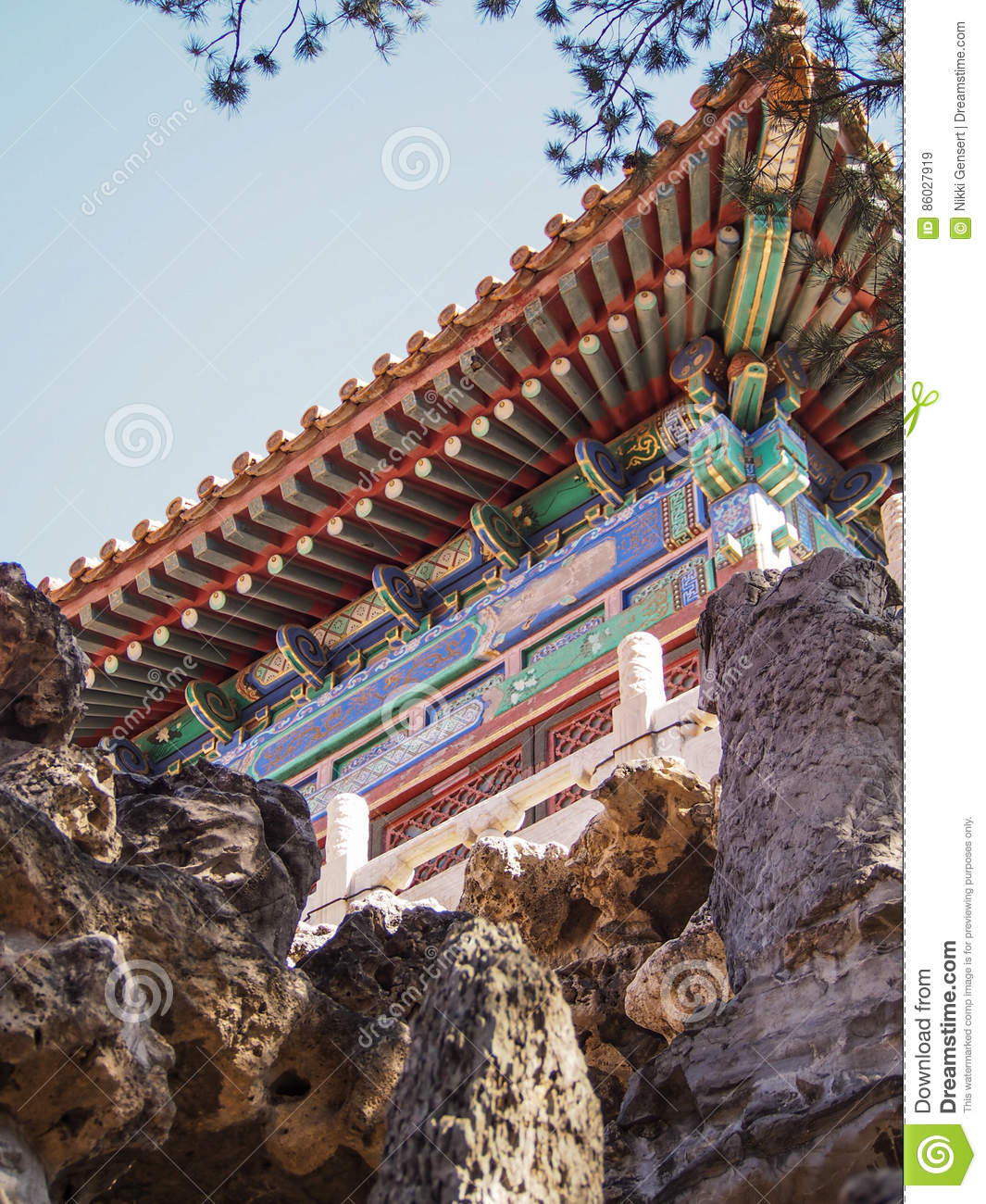 Architectural Detail at Forbidden City Beijing China