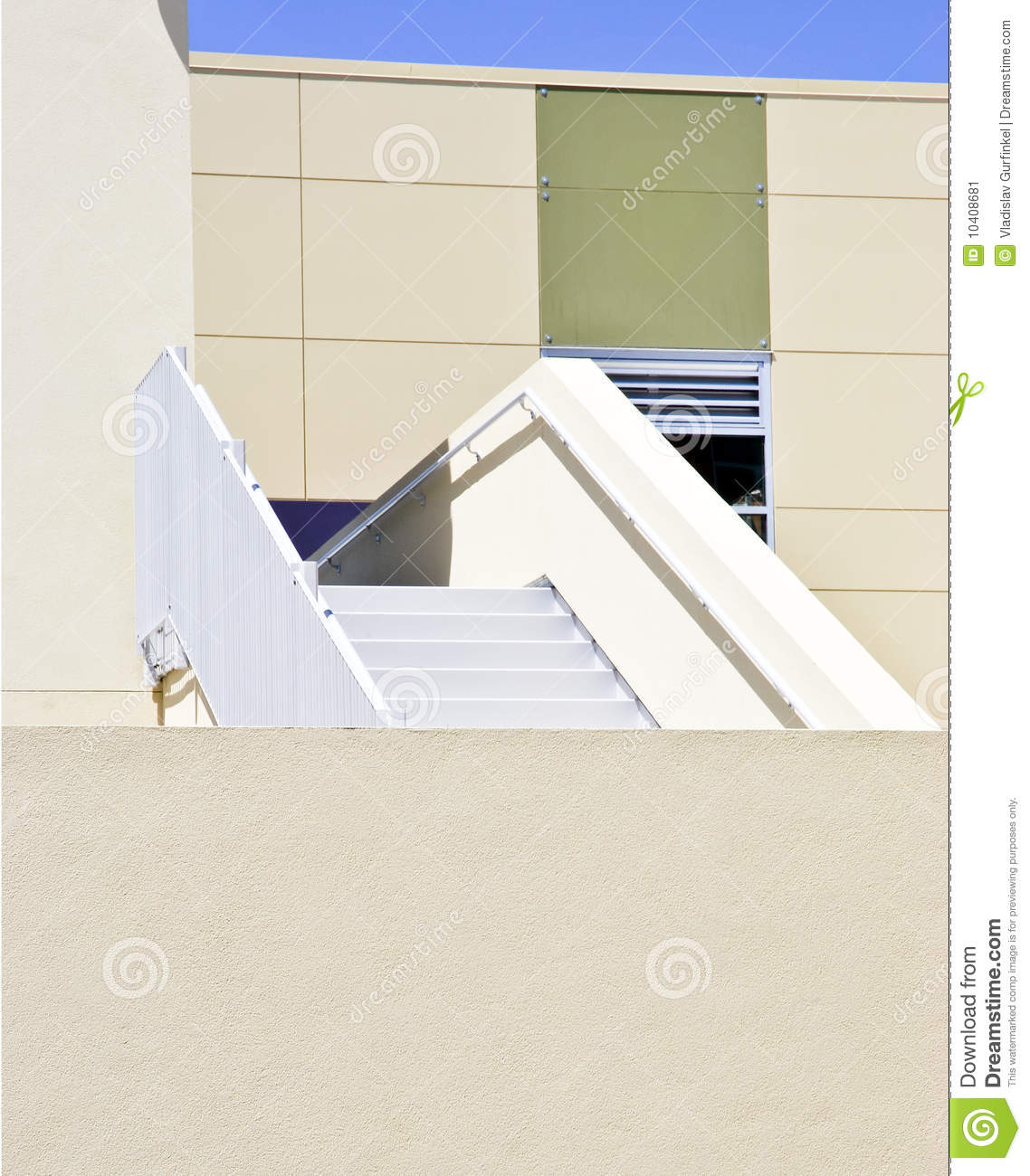 Architectural Details Of Modern Building Stock Image