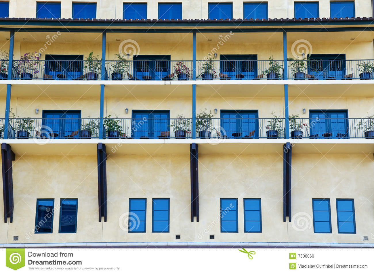 Architectural Details Of Modern Building Stock Photo