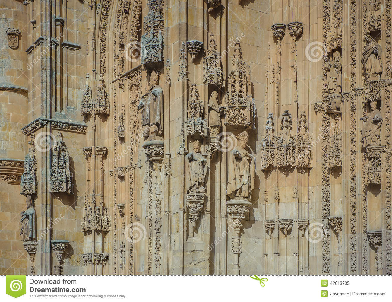 architectural details of new cathedral in salamanca spain royalty free stock image. Black Bedroom Furniture Sets. Home Design Ideas