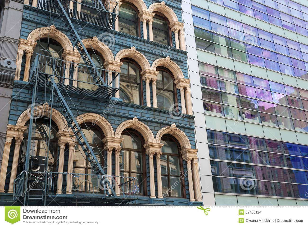 Architectural Details Of New York City Stock Photo Image Of Glass