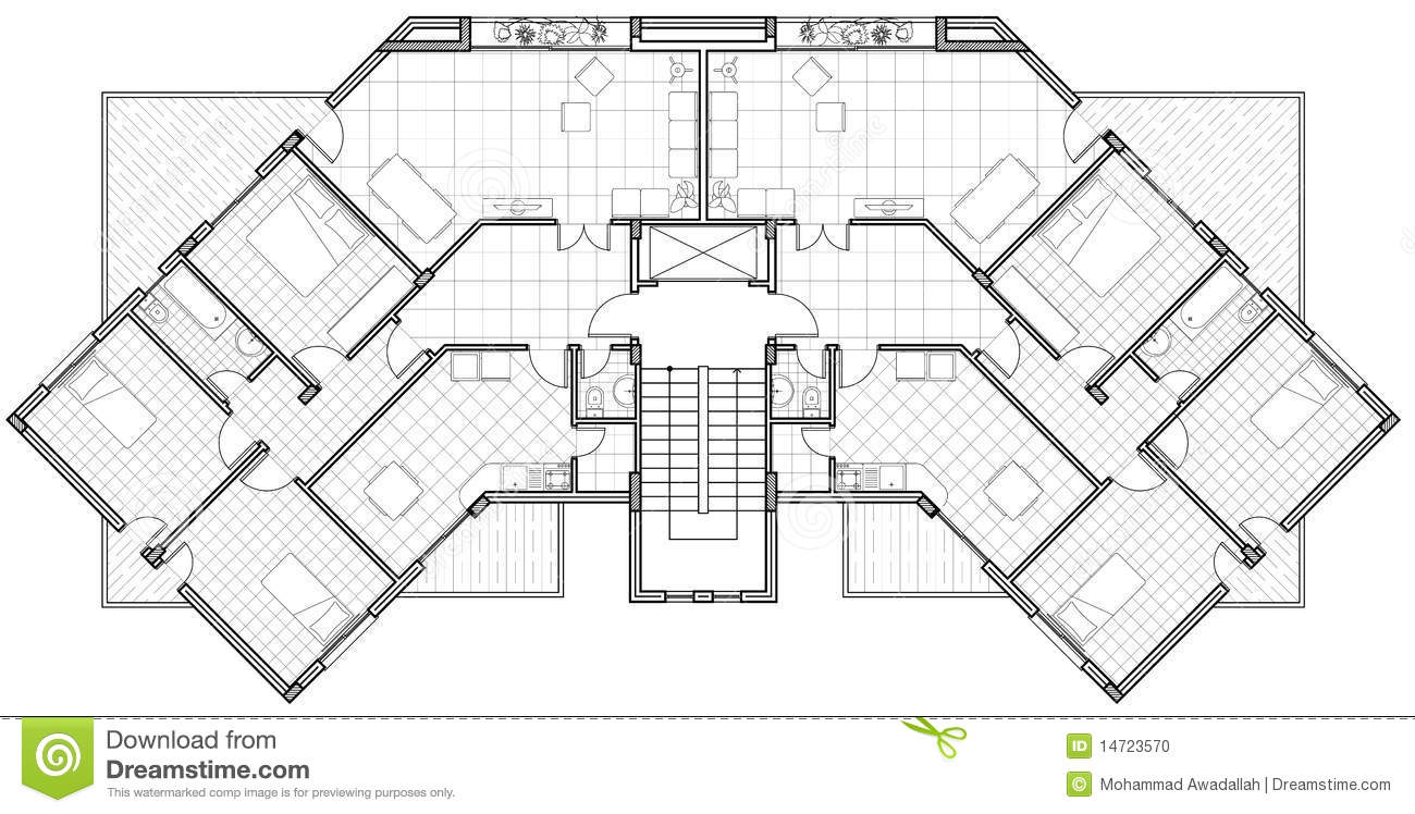 Architectural drawing stock photo image 14723570 for Architect drawing house plans