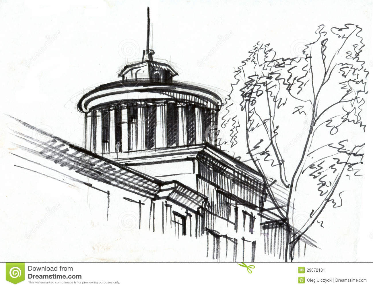 Architectural drawing stock illustration illustration of for Printing architectural drawings