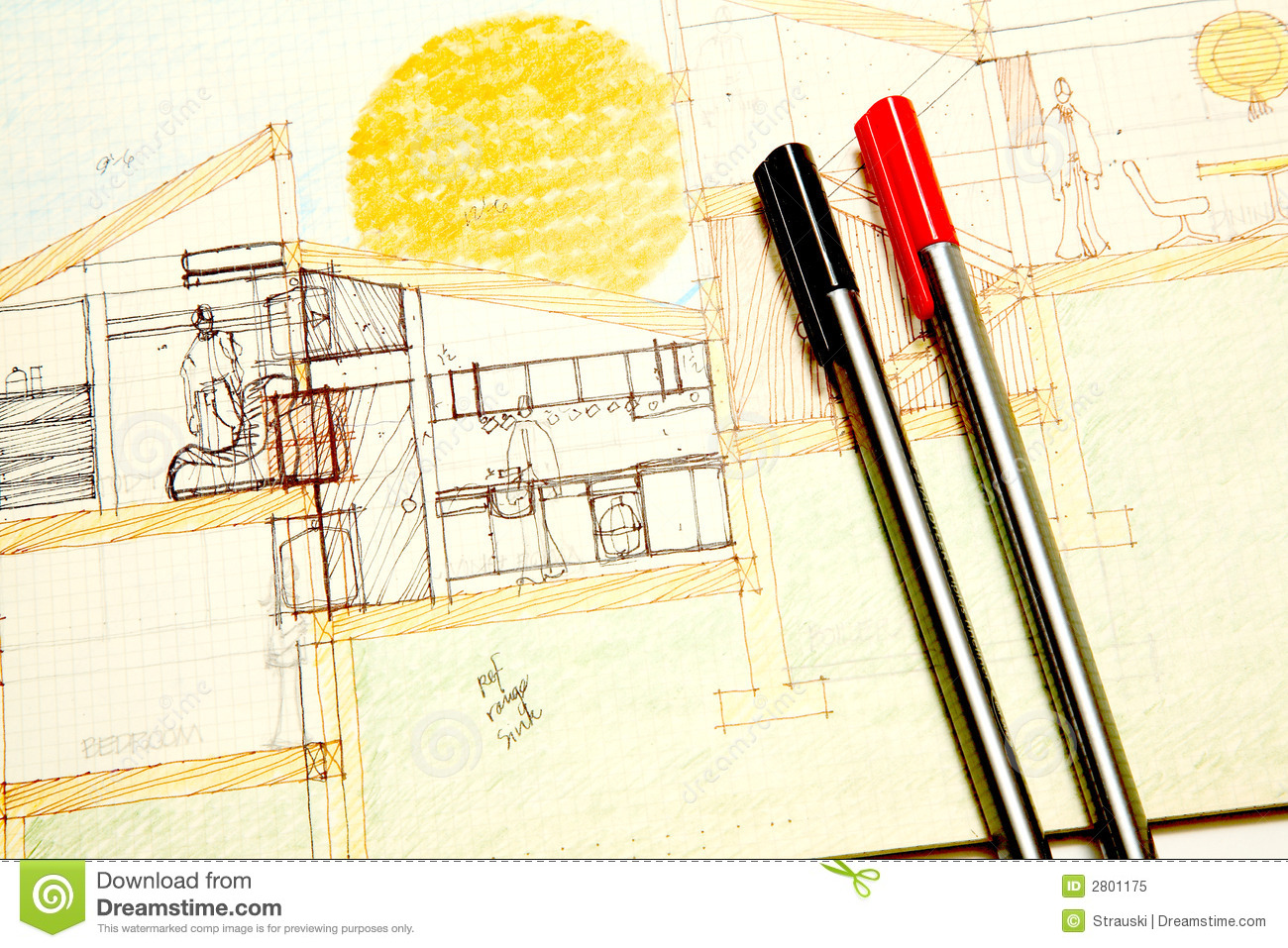 Architectural Drawing Royalty Free Stock Photo Image