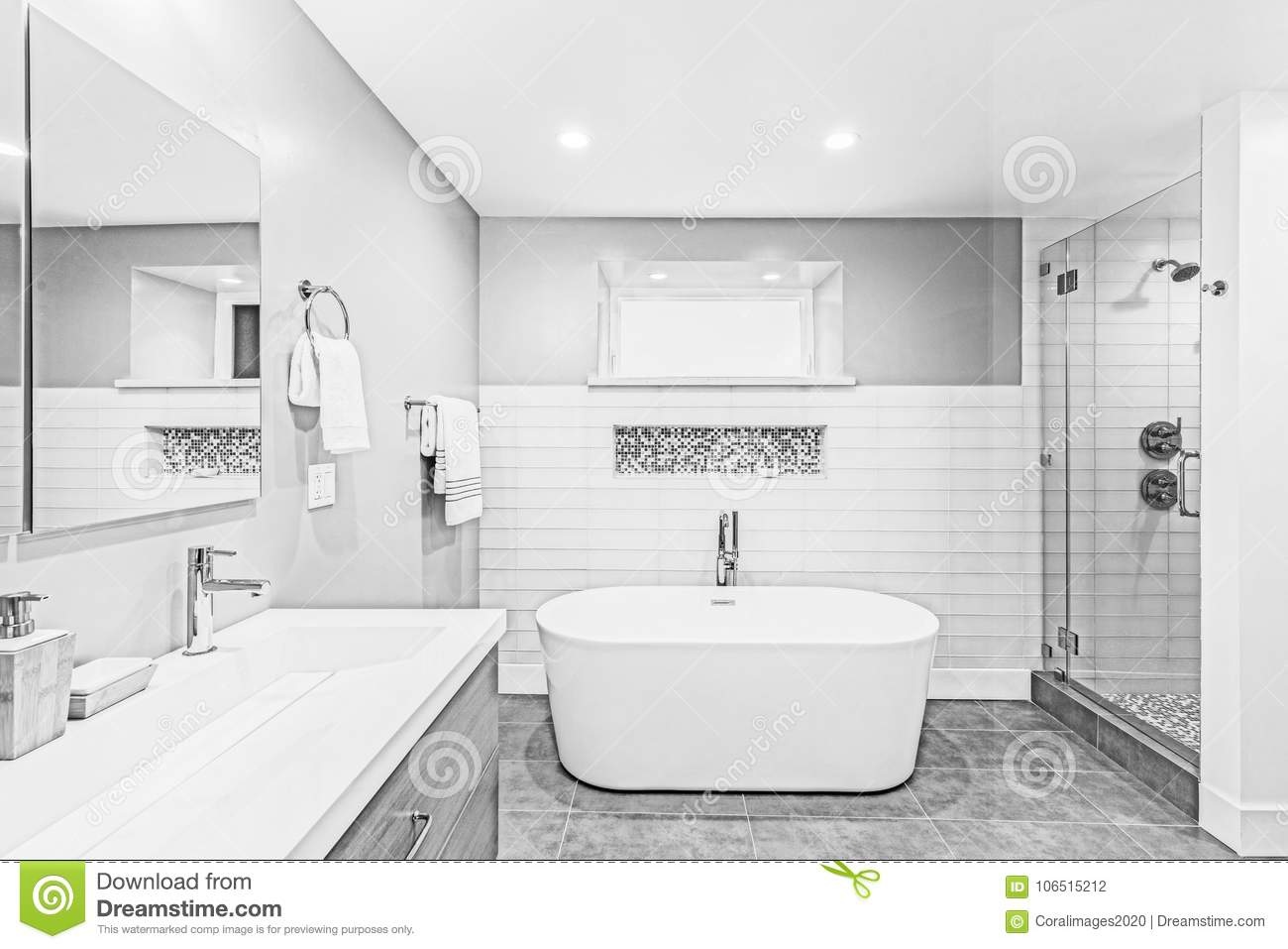 Architectural Drawing Of Bathroom Illustration. Stock ...
