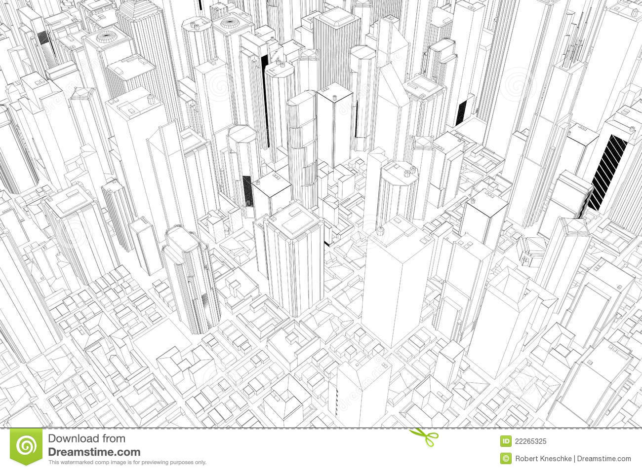 Architectural Drawings Of Skyscrapers architectural drawing of city royalty free stock photo - image