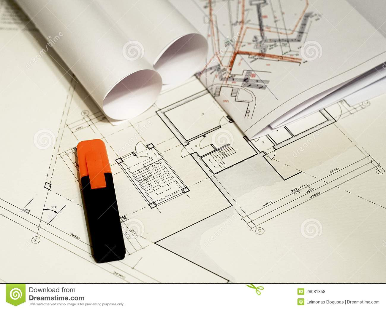 Architectural drawings, blueprints, city planning