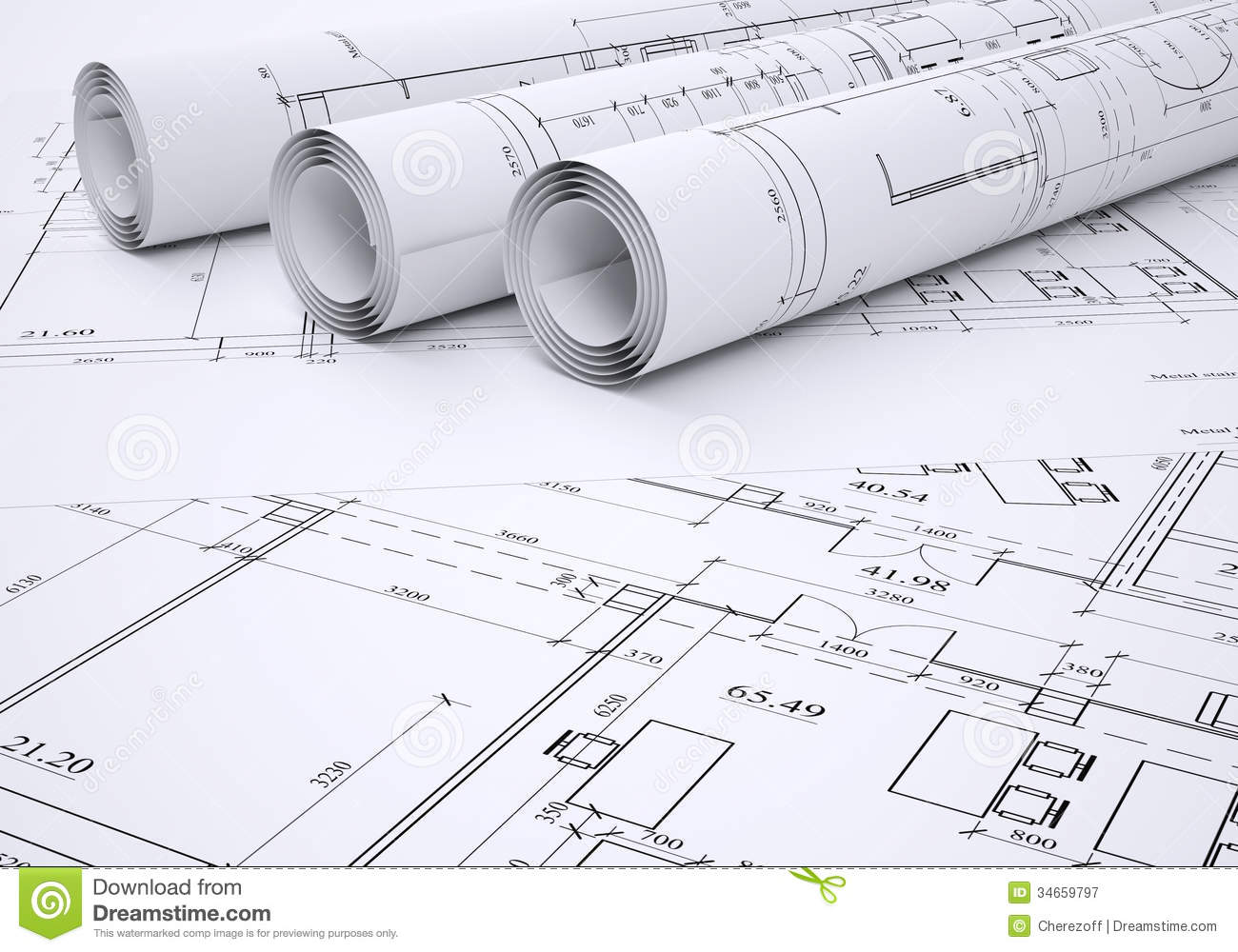 Architectural Drawings Stock Illustration Image Of