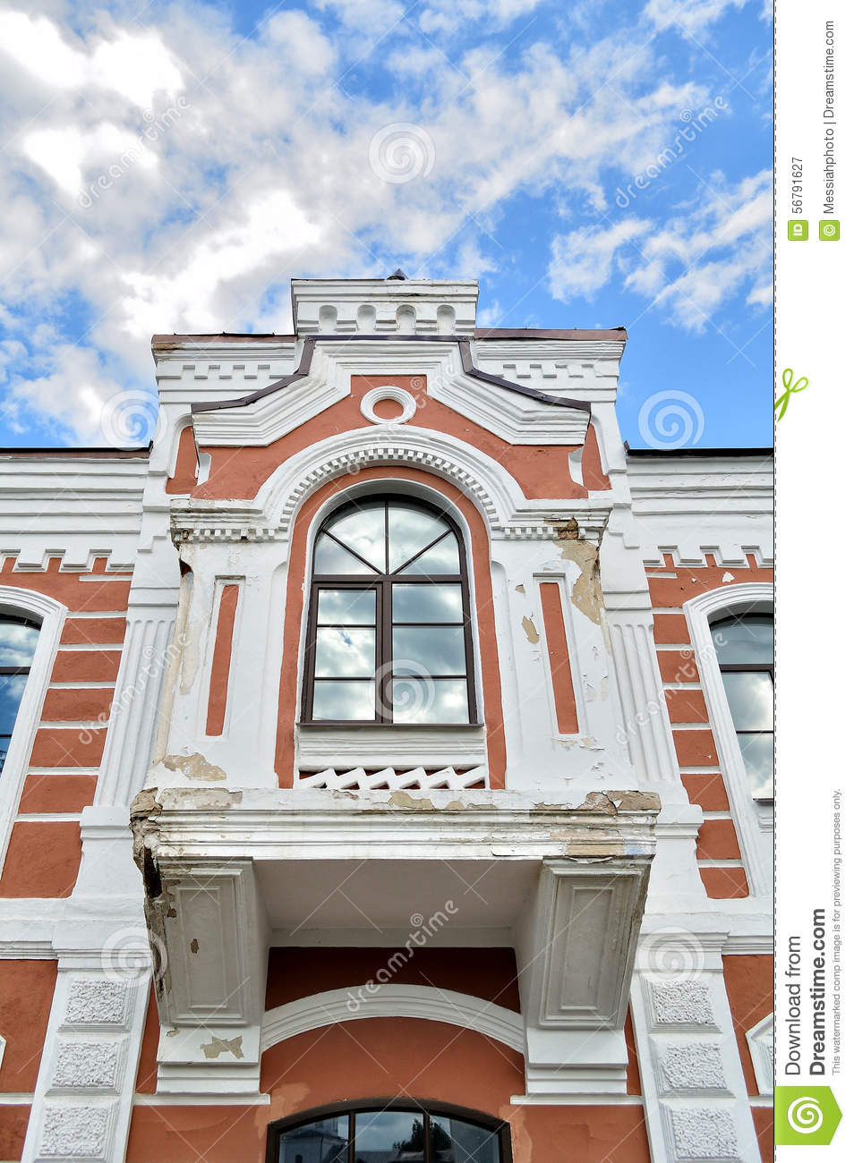 Architectural Building Elements : Decorative sculptural elements on the facade of old
