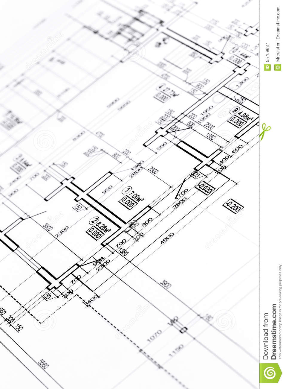 Architectural floor plan stock photo image 55709637 for Architecture plan drawing