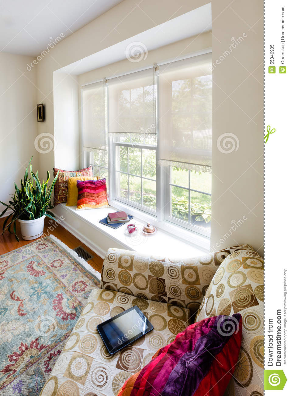 Architectural Home Living Room Interior Design Stock Image - Image ...