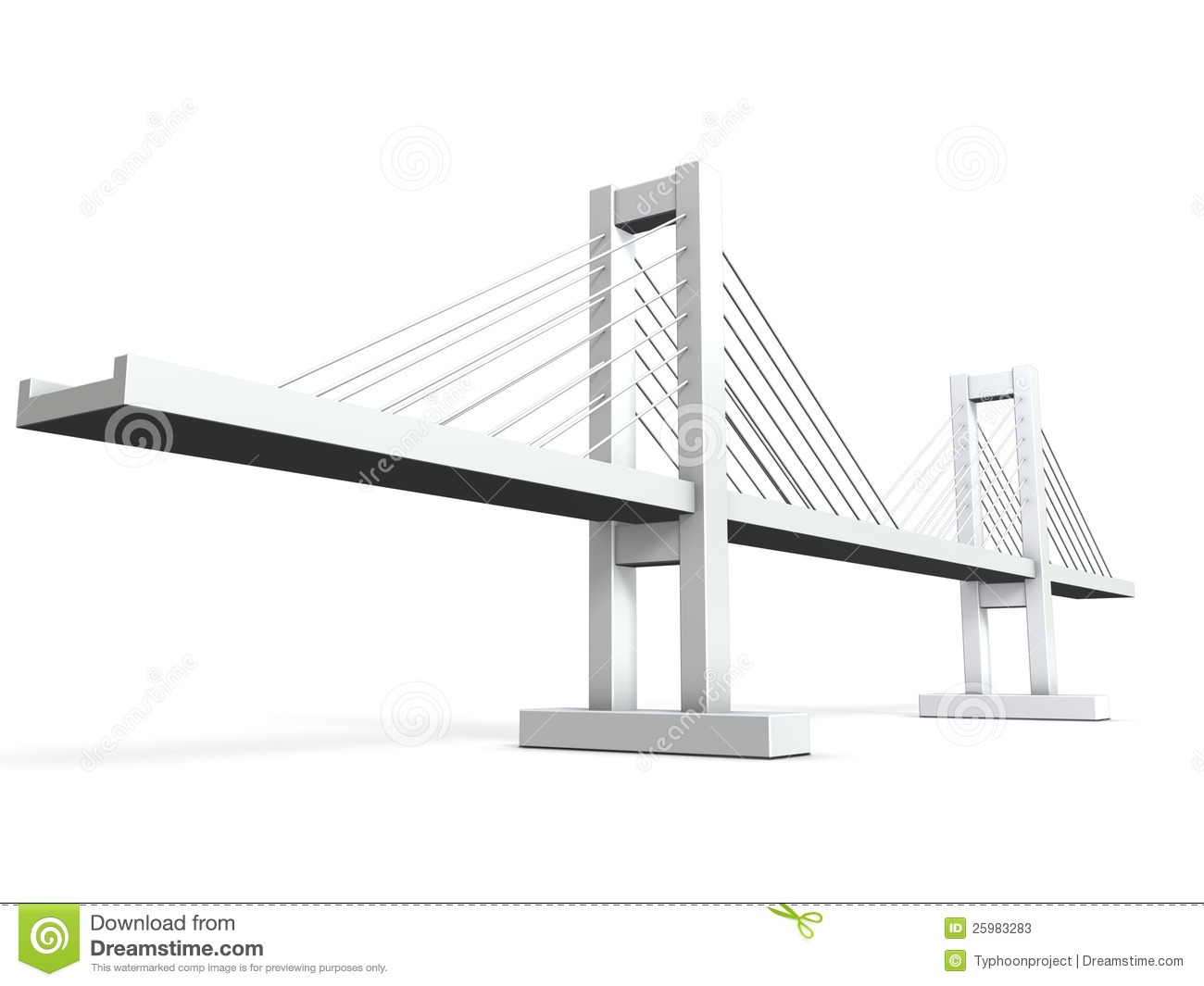 Picture Book Illustration Making An Architectural Model: Architectural Models Of Cable-stayed Bridge Stock