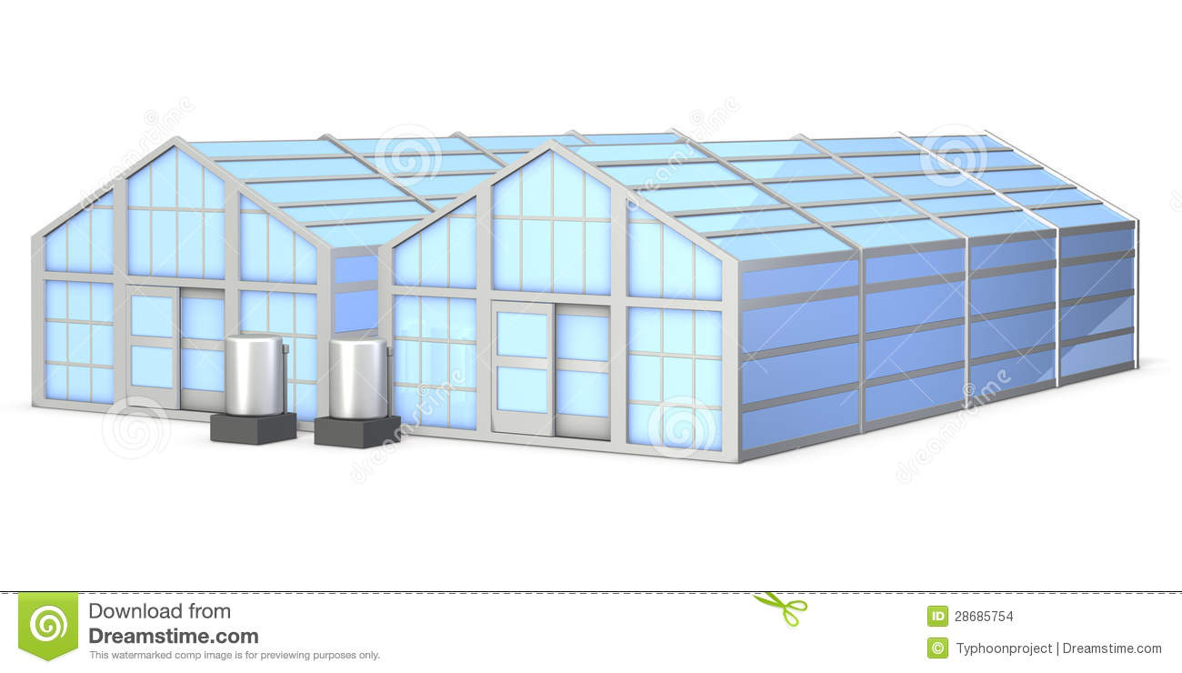 Architectural Models Of Greenhouse Stock Images Image