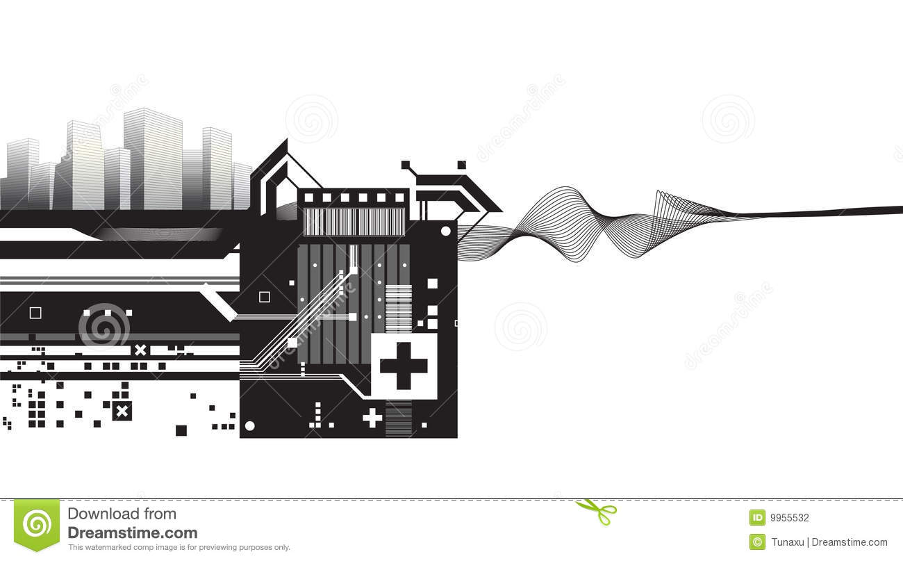 Architectural Modern Design Vector. Plus, Abstract. Design