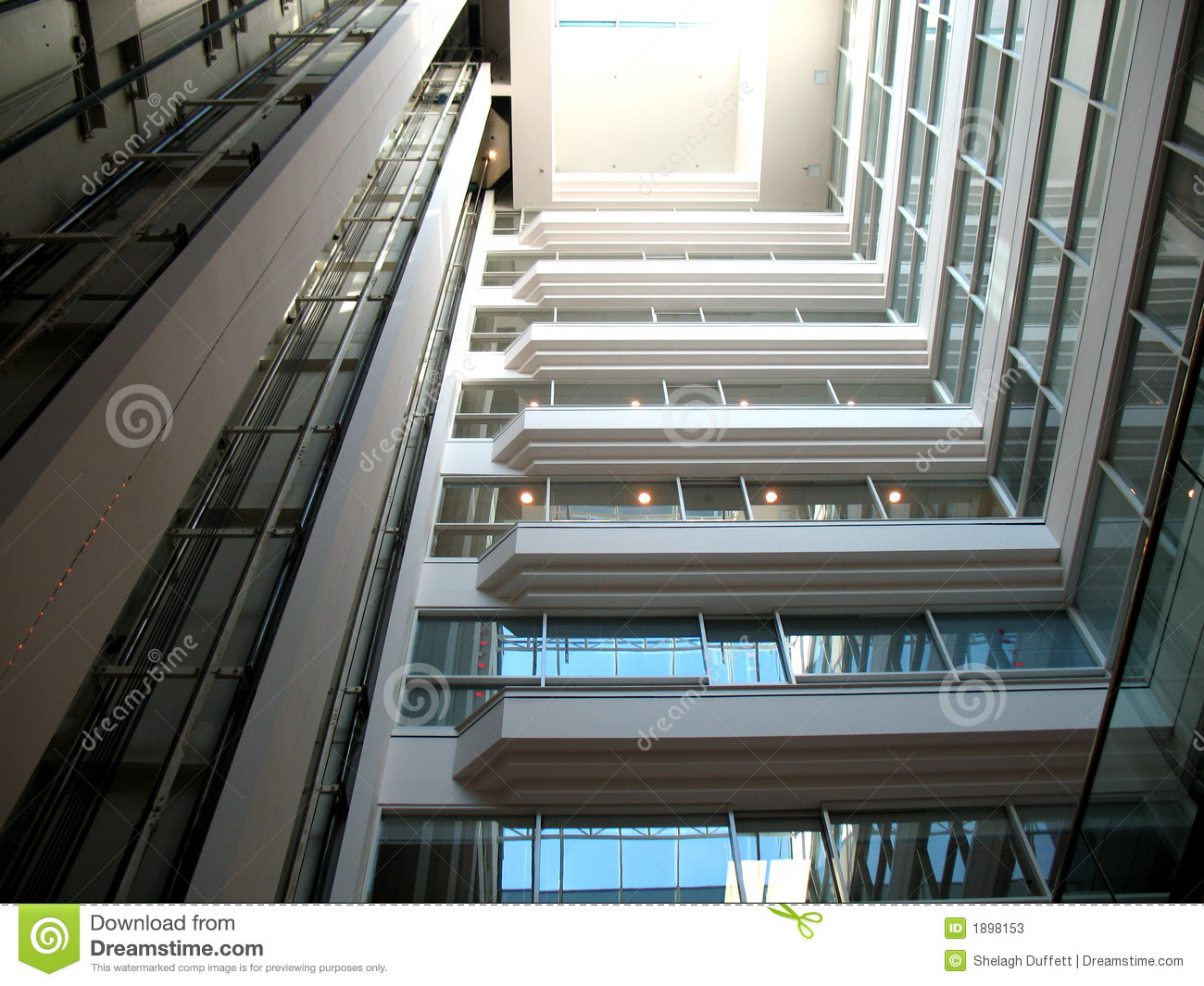 Architectural Office Building Interior Stock Image Image