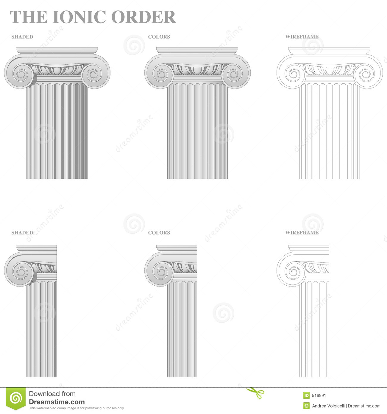 architectural order ionic stock illustration illustration of
