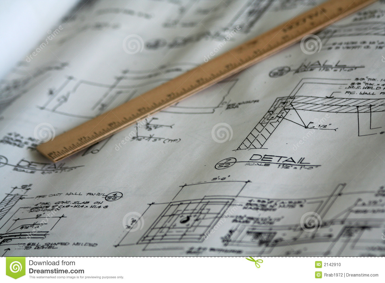 Draft A Blueprint Of Your Dream Home Architectural Plan Blueprint Real Estate Business Concept