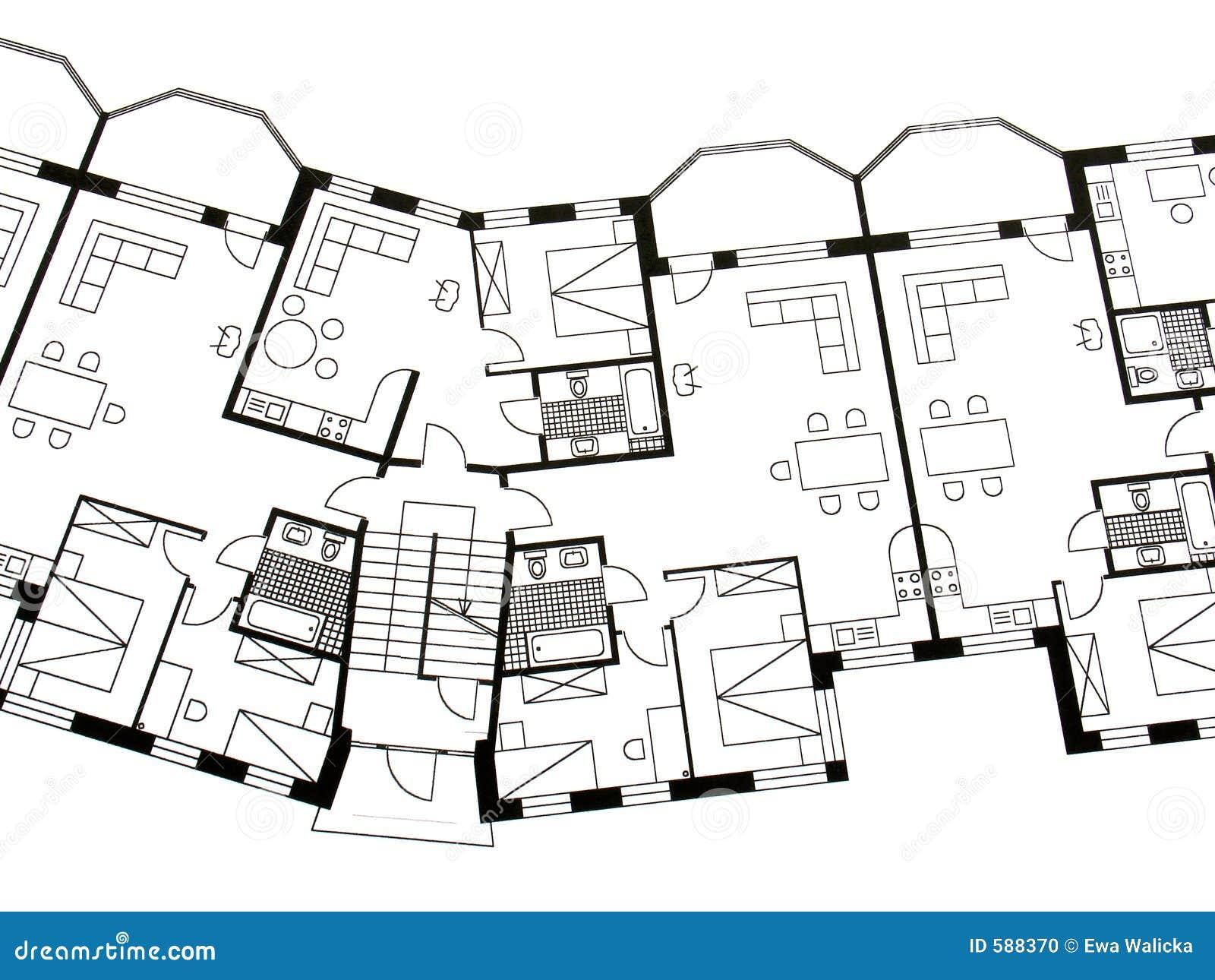 architectural plan stock photo